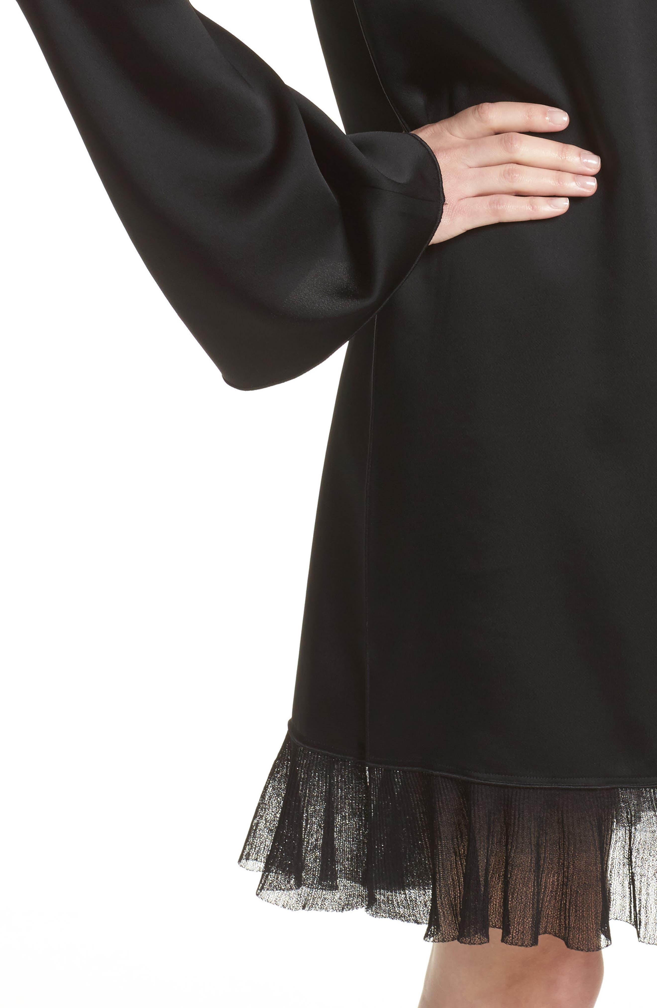 Heath Shift Dress,                             Alternate thumbnail 4, color,                             Black