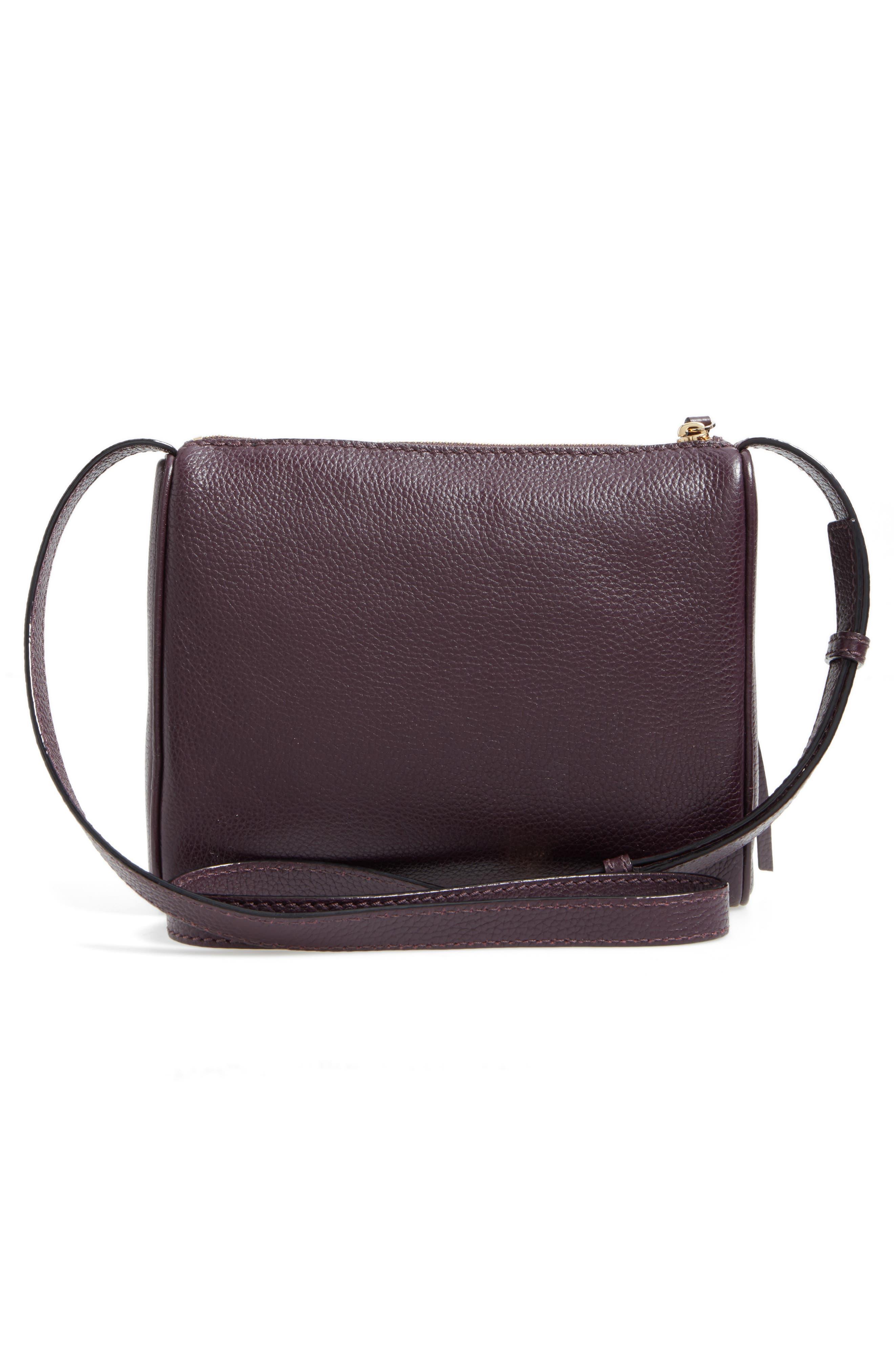 young lane - cayli leather crossbody bag,                             Alternate thumbnail 3, color,                             Dark Mahogany