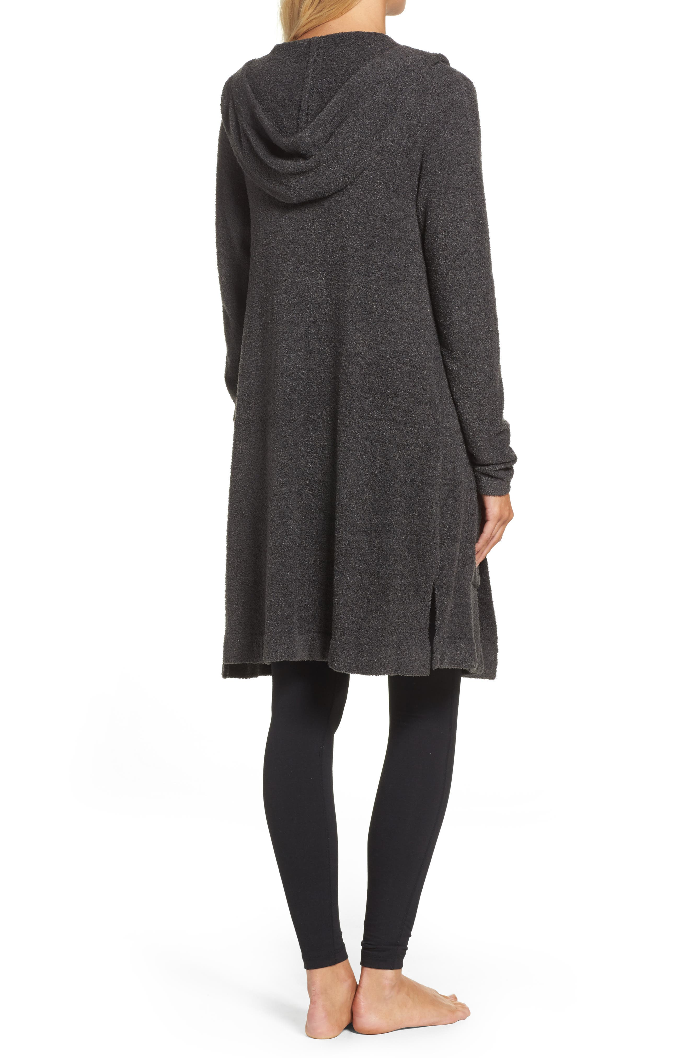 Cozychic Lite<sup>®</sup> Coastal Hooded Cardigan,                             Alternate thumbnail 2, color,                             Carbon