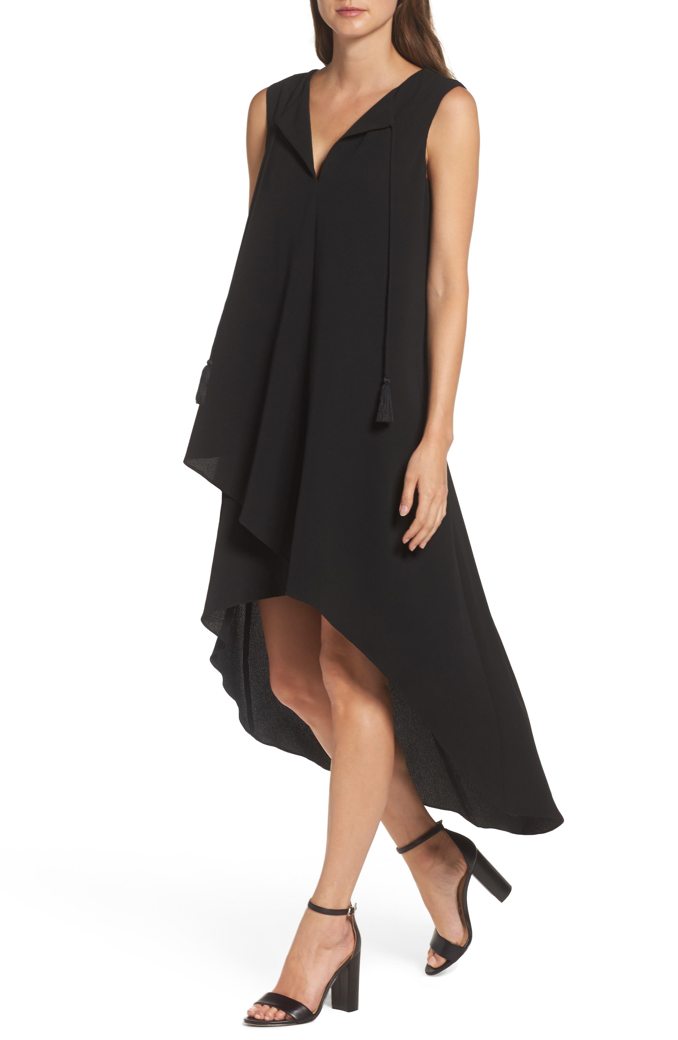 High/Low Dress,                             Alternate thumbnail 4, color,                             Black