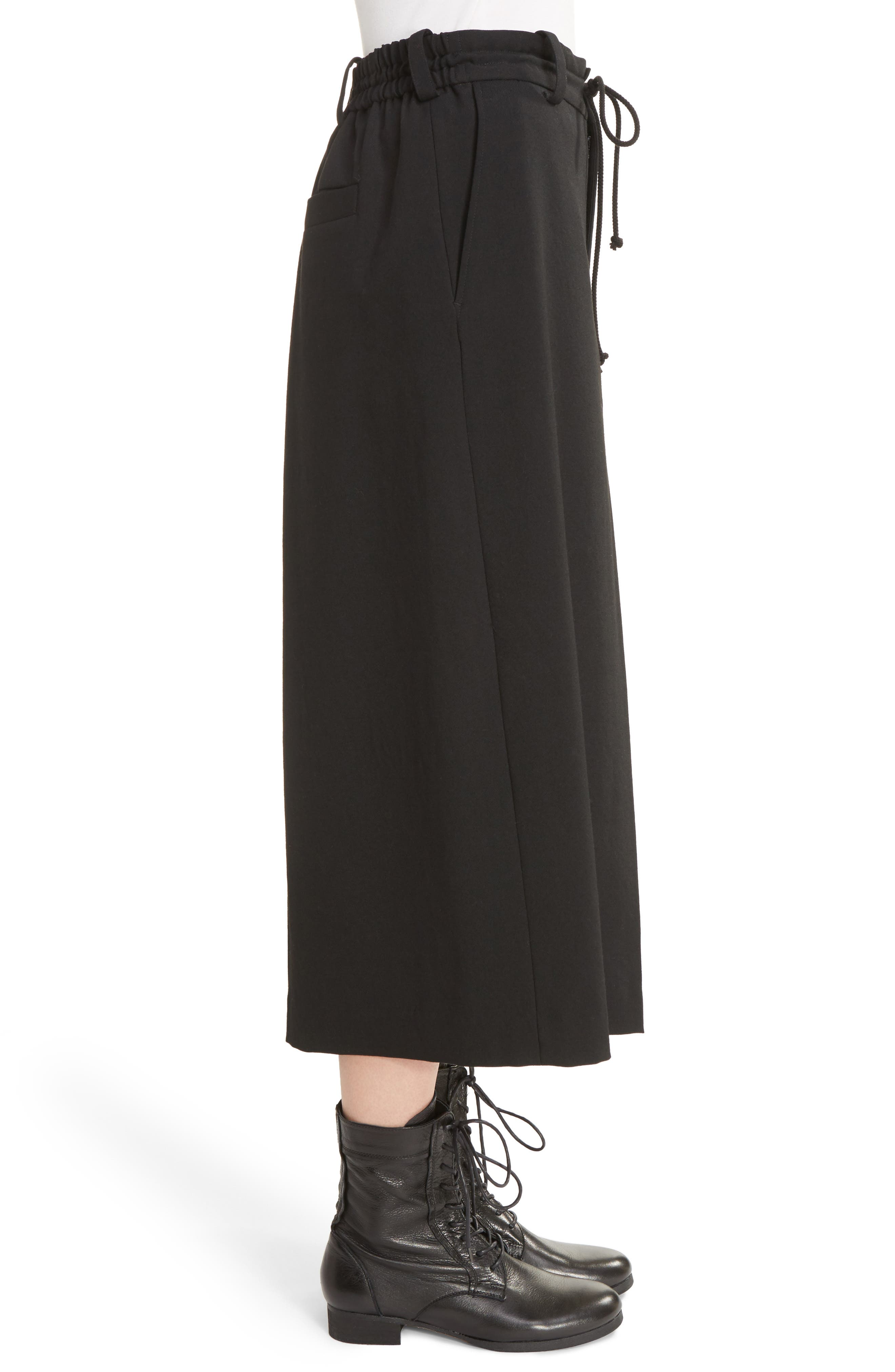 Alternate Image 4  - Y's by Yohji Yamamoto G-Gusset Tuck Front Wide Leg Pants