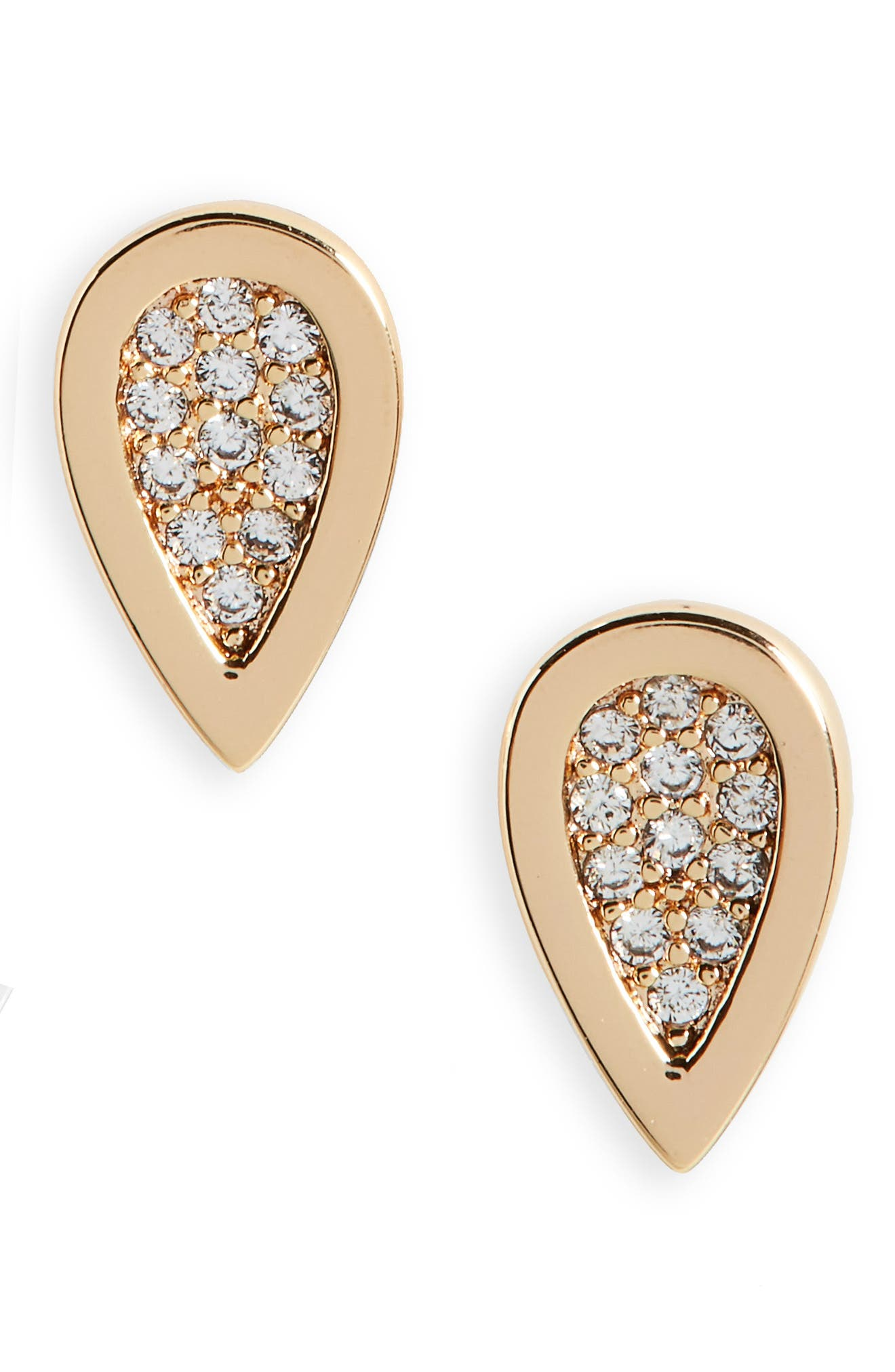 MELANIE AULD Teardrop Stud Earrings