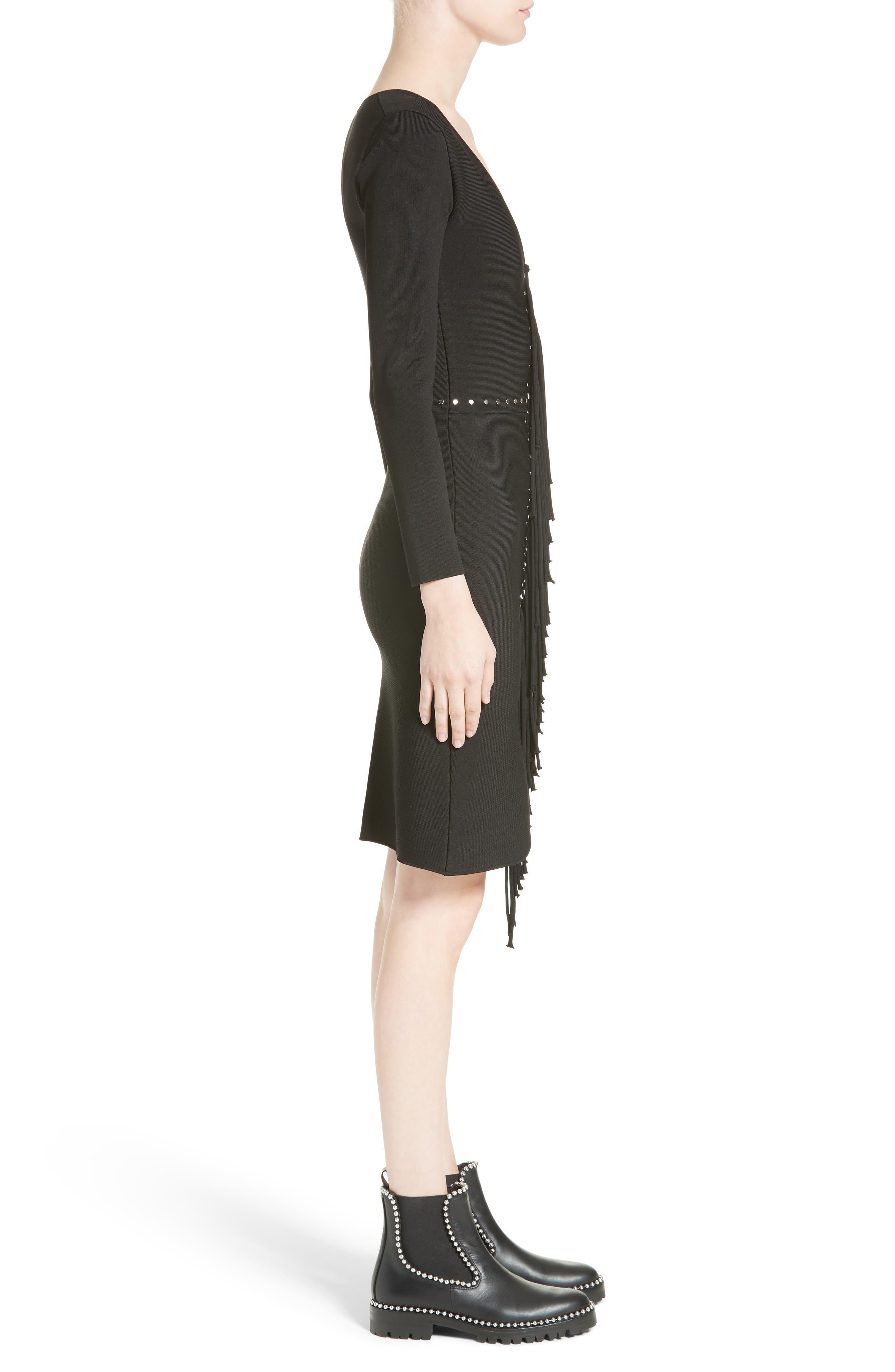 Alternate Image 5  - Alexander Wang Knotted Fringe Knit Dress