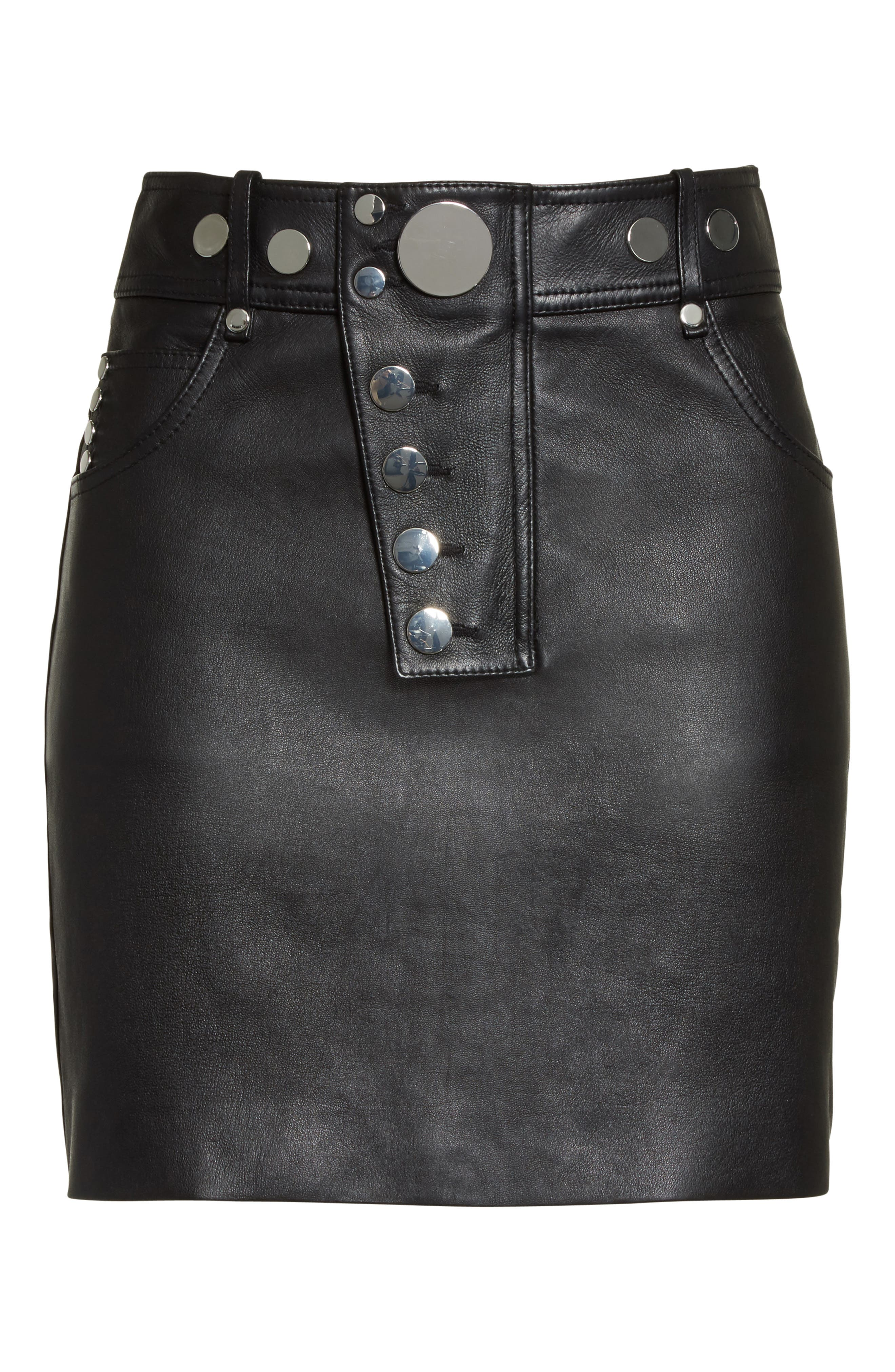 Alternate Image 4  - Alexander Wang Snap Leather Miniskirt