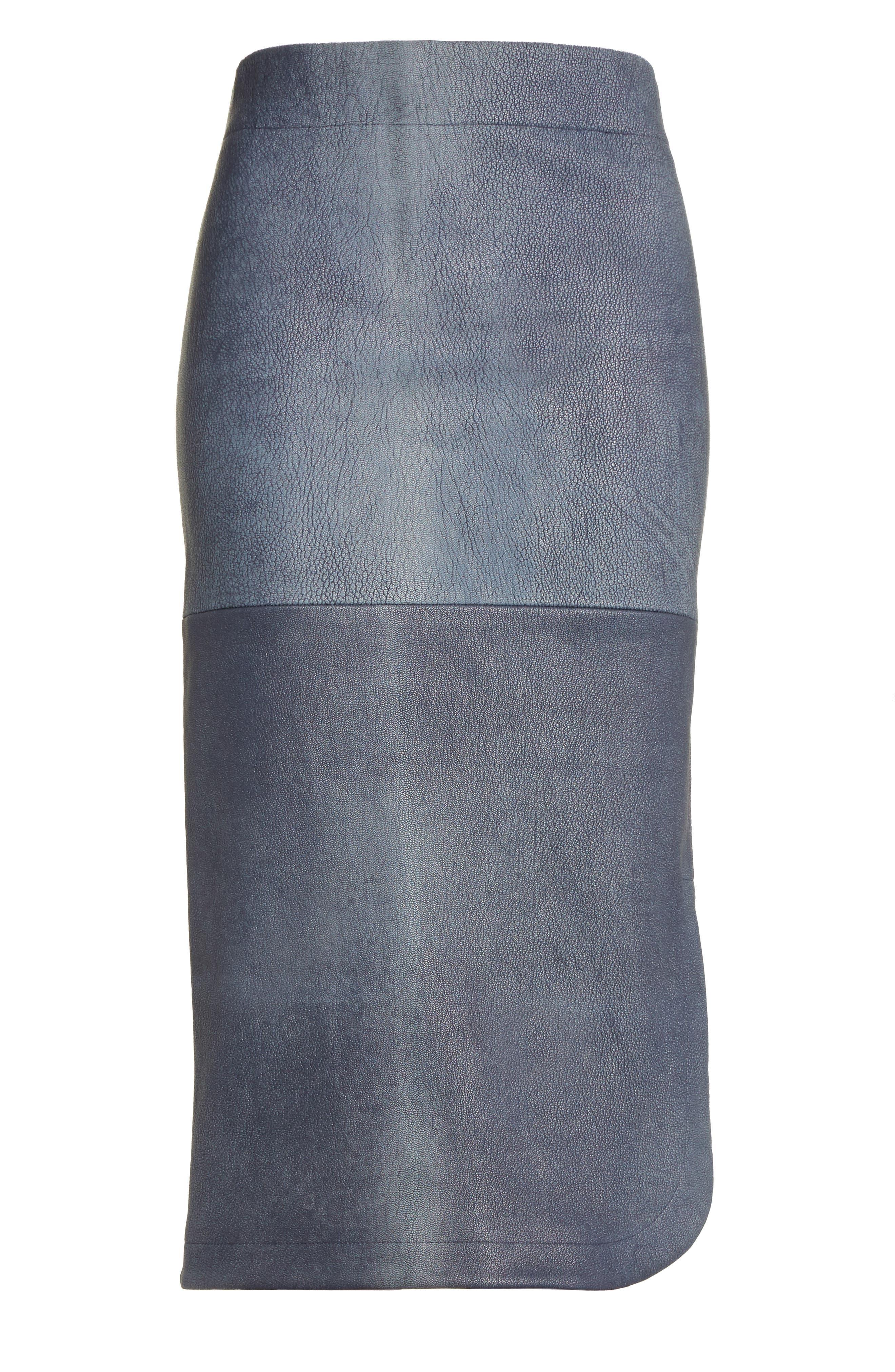Alternate Image 4  - Zero + Maria Cornejo Rai Leather Curved Skirt