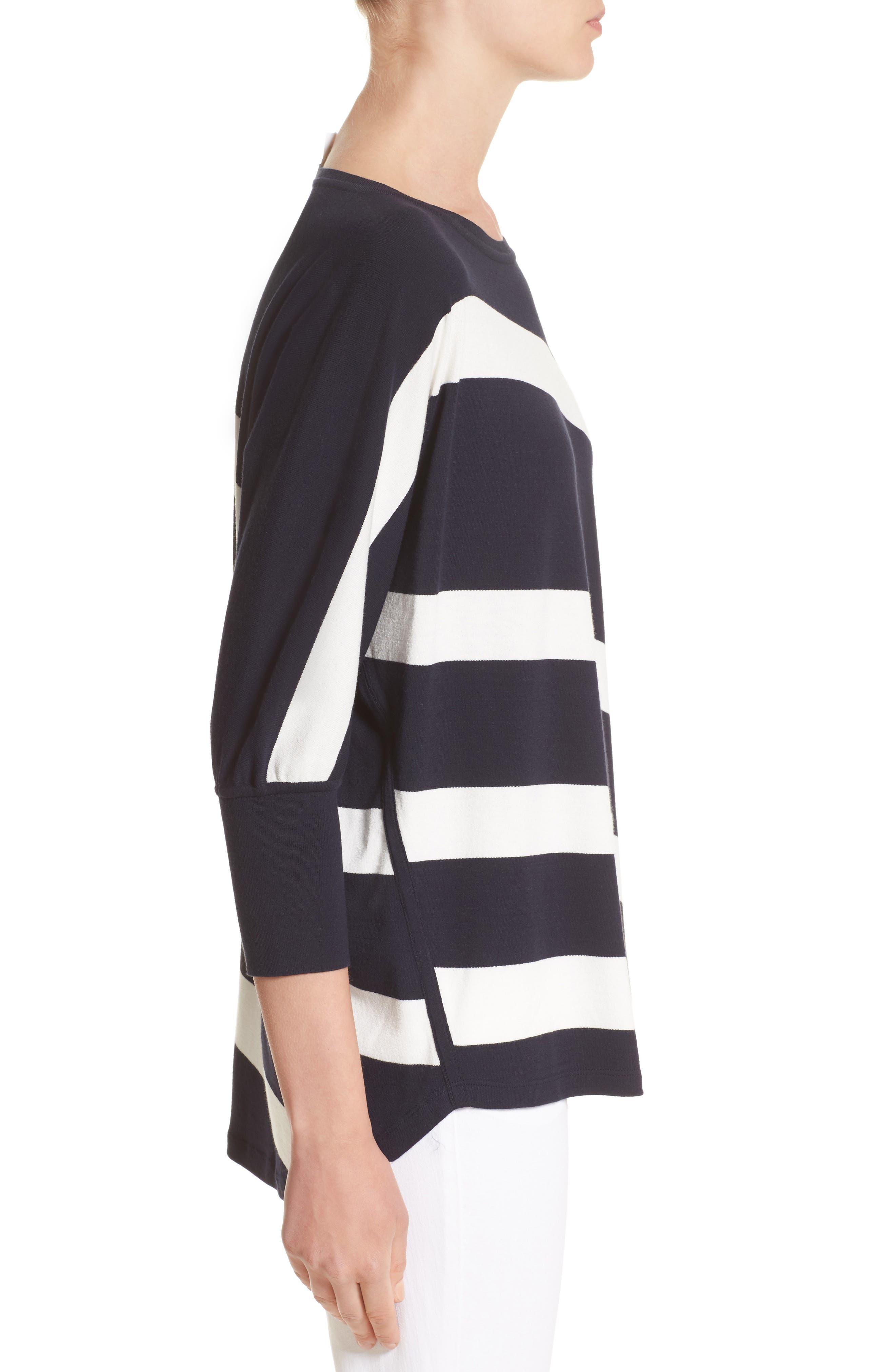 Alternate Image 4  - Lafayette 148 New York Stripe Sweater