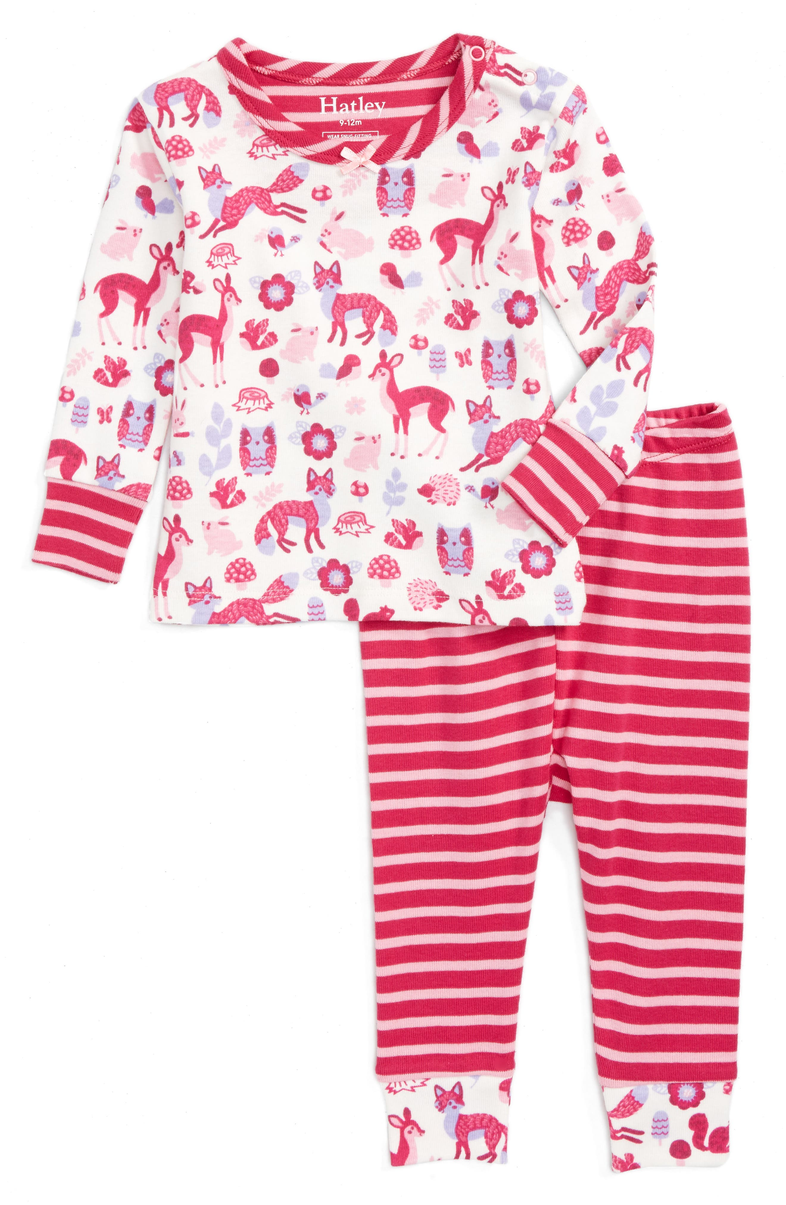 HATLEY Organic Cotton Fitted Two-Piece Pajamas