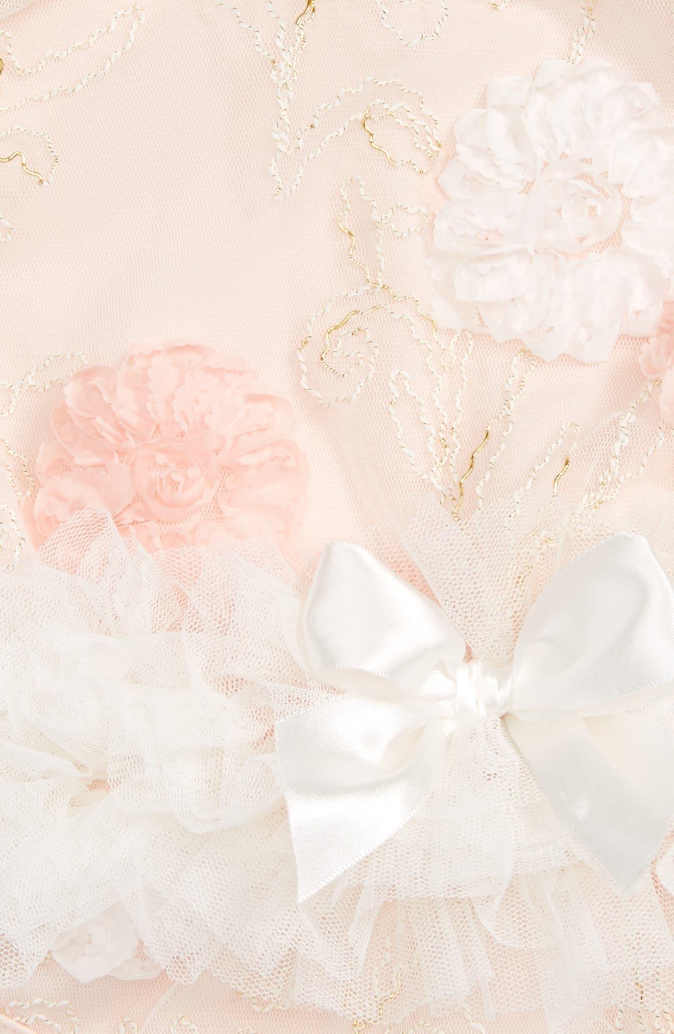 Alternate Image 2  - Popatu Floral Tutu Bodysuit (Baby Girls)