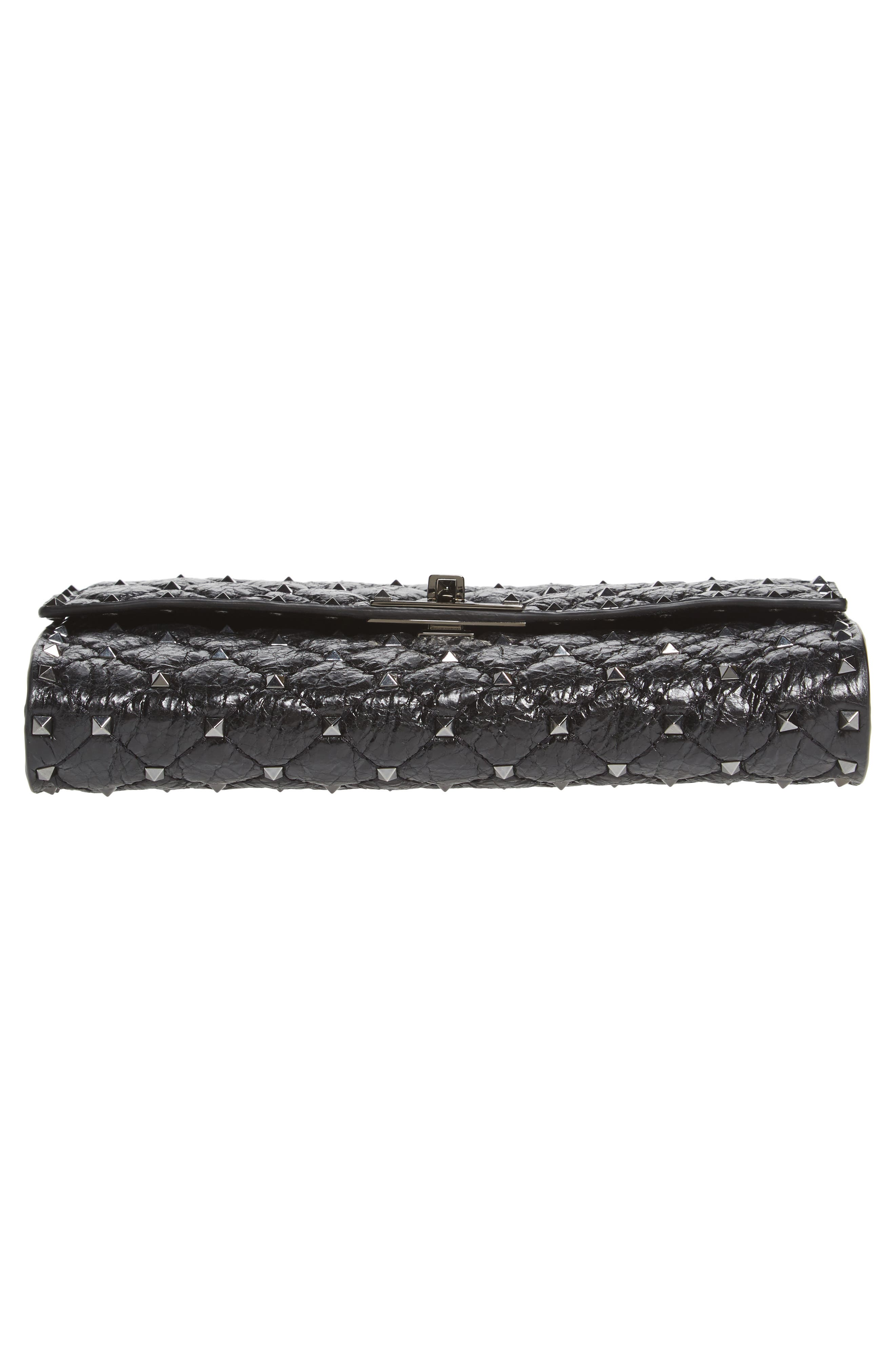 Rockstud Spike Wallet on a Chain,                             Alternate thumbnail 6, color,                             Black
