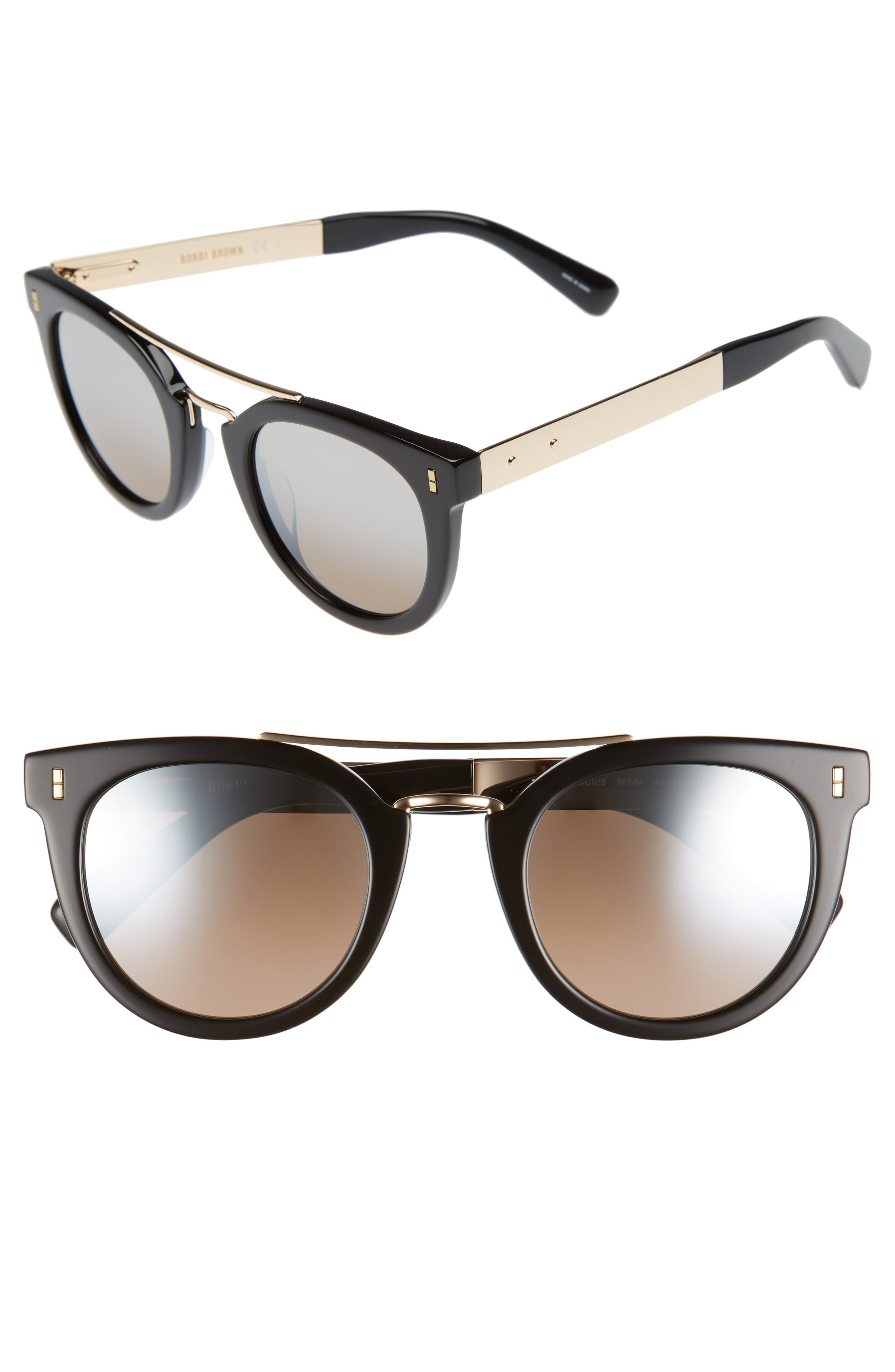 The Woodson 48mm Gradient Sunglasses,                         Main,                         color, Black