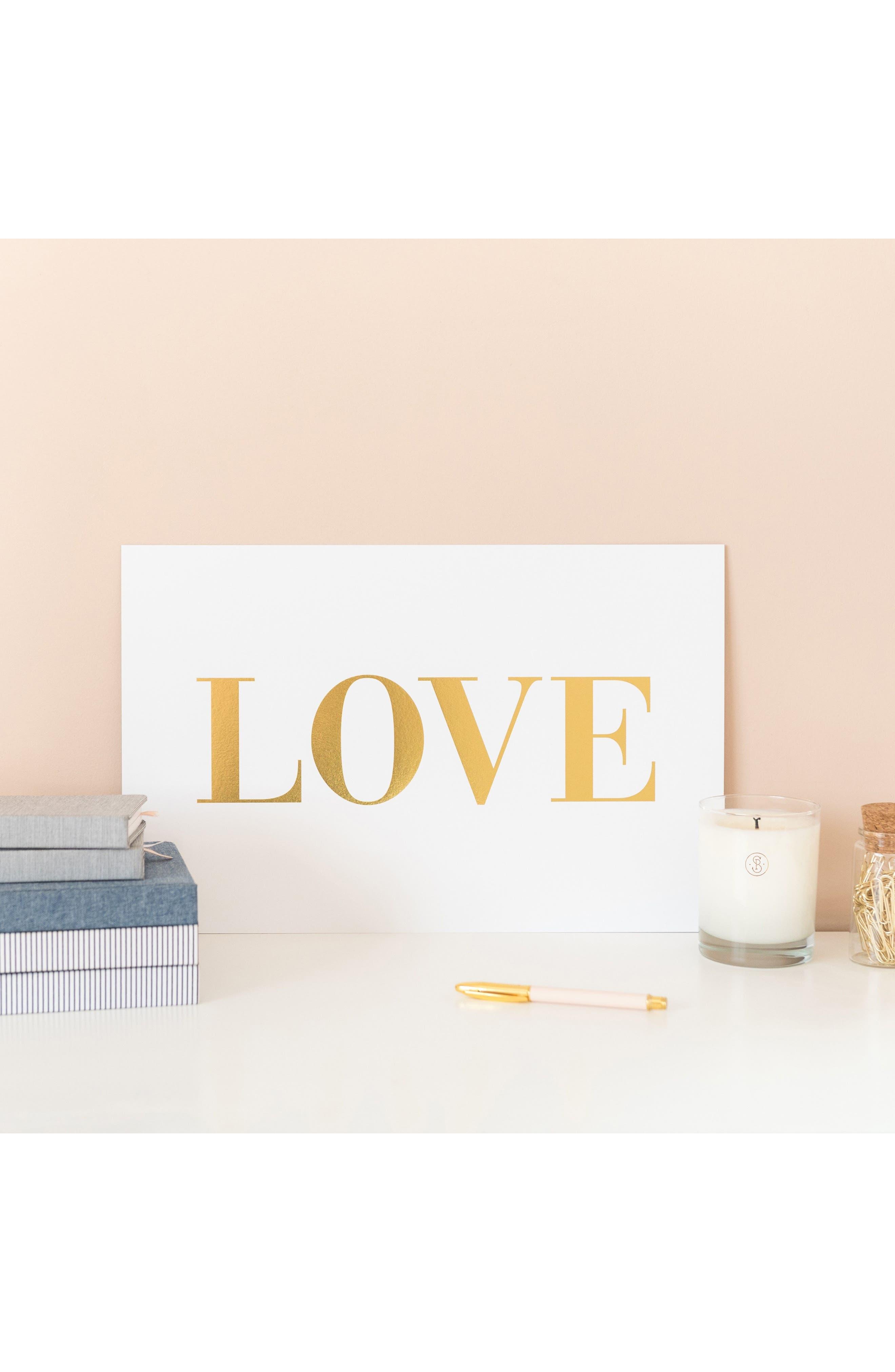 Alternate Image 3  - sugar paper Love Art Print