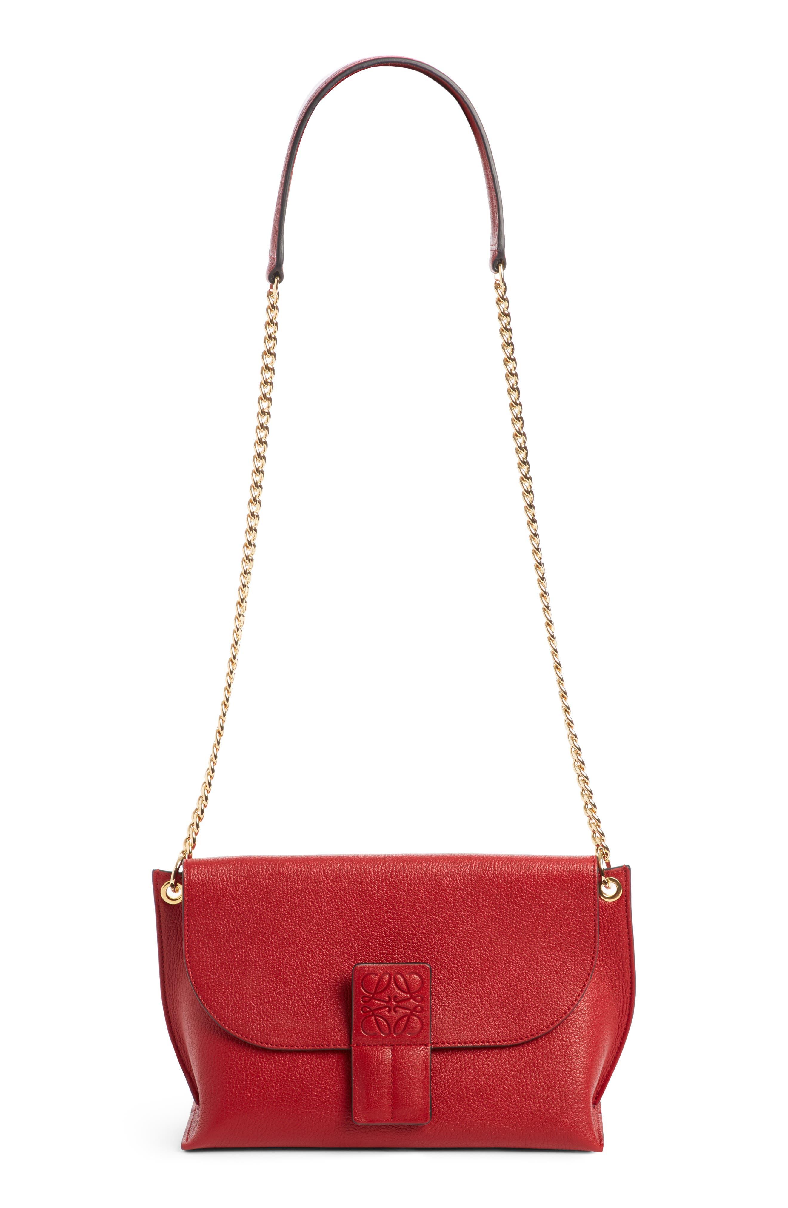 Loewe Avenue Leather Crossbody Bag