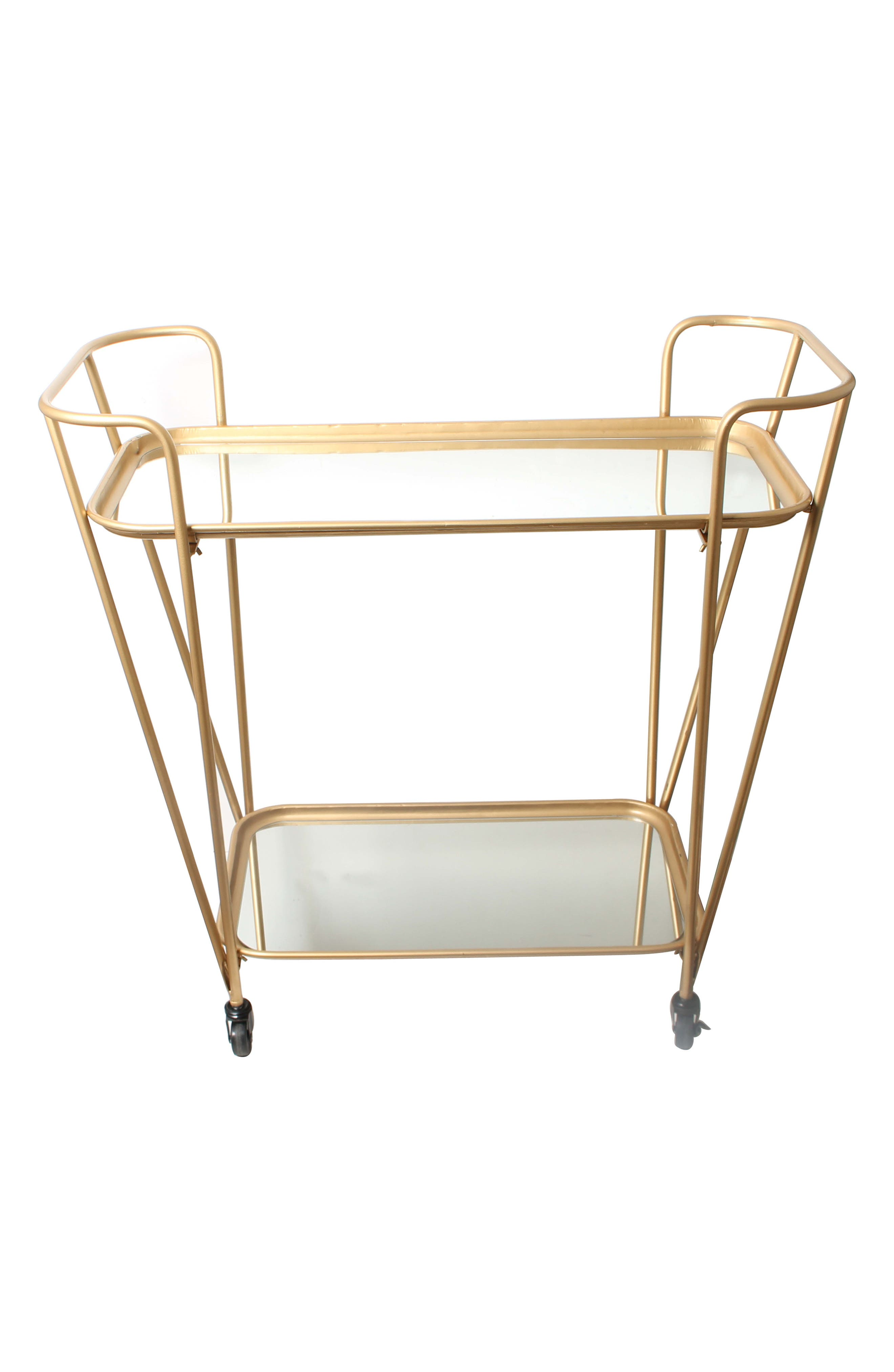 Alternate Image 2  - E2 CONCEPTS Metal Mirrored Rolling Bar Cart
