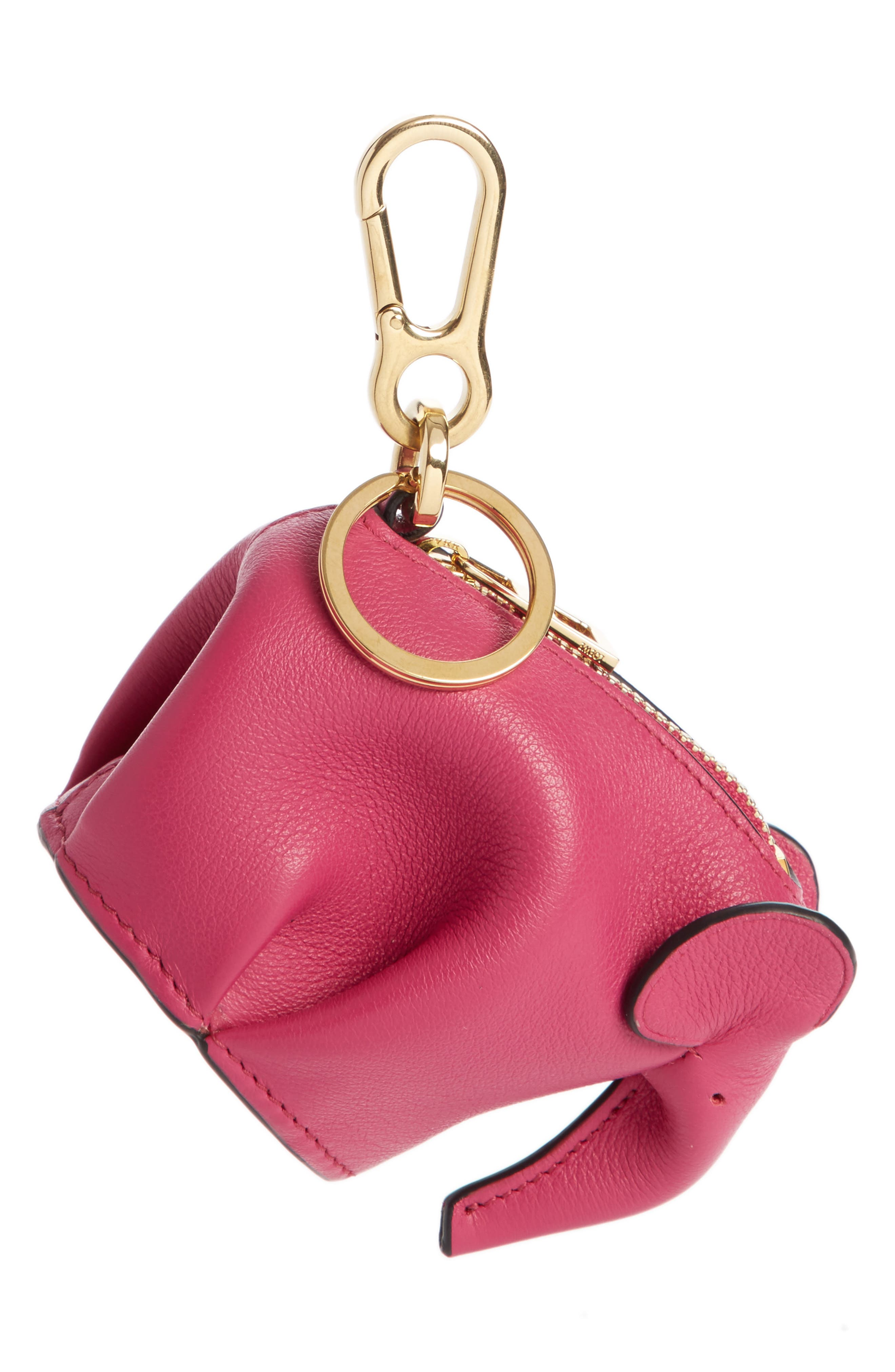 Elephant Bag Charm,                         Main,                         color, Fuchsia