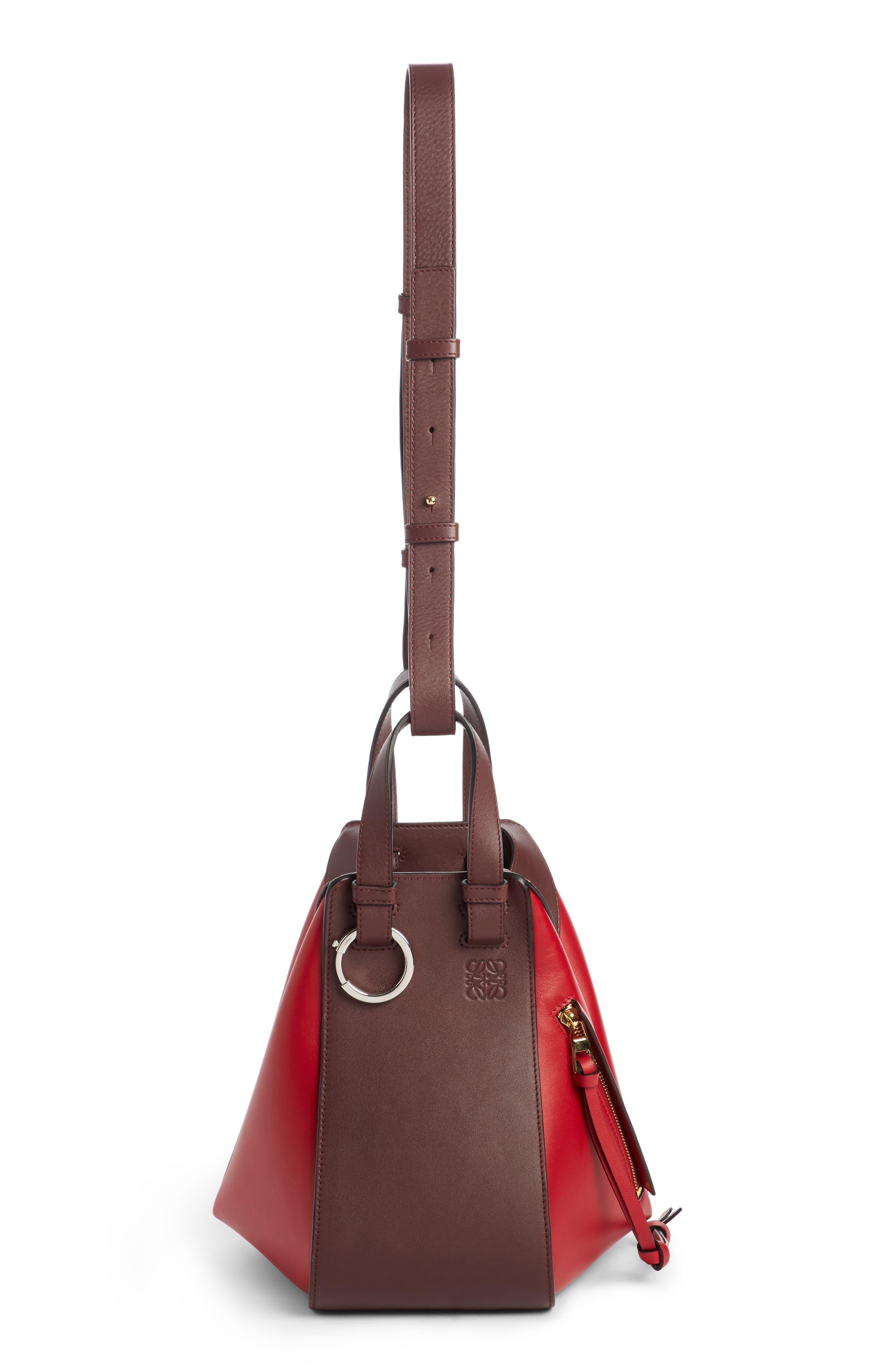 Small Hammock Leather Shoulder Bag,                             Alternate thumbnail 2, color,                             Oxblood/ Rouge