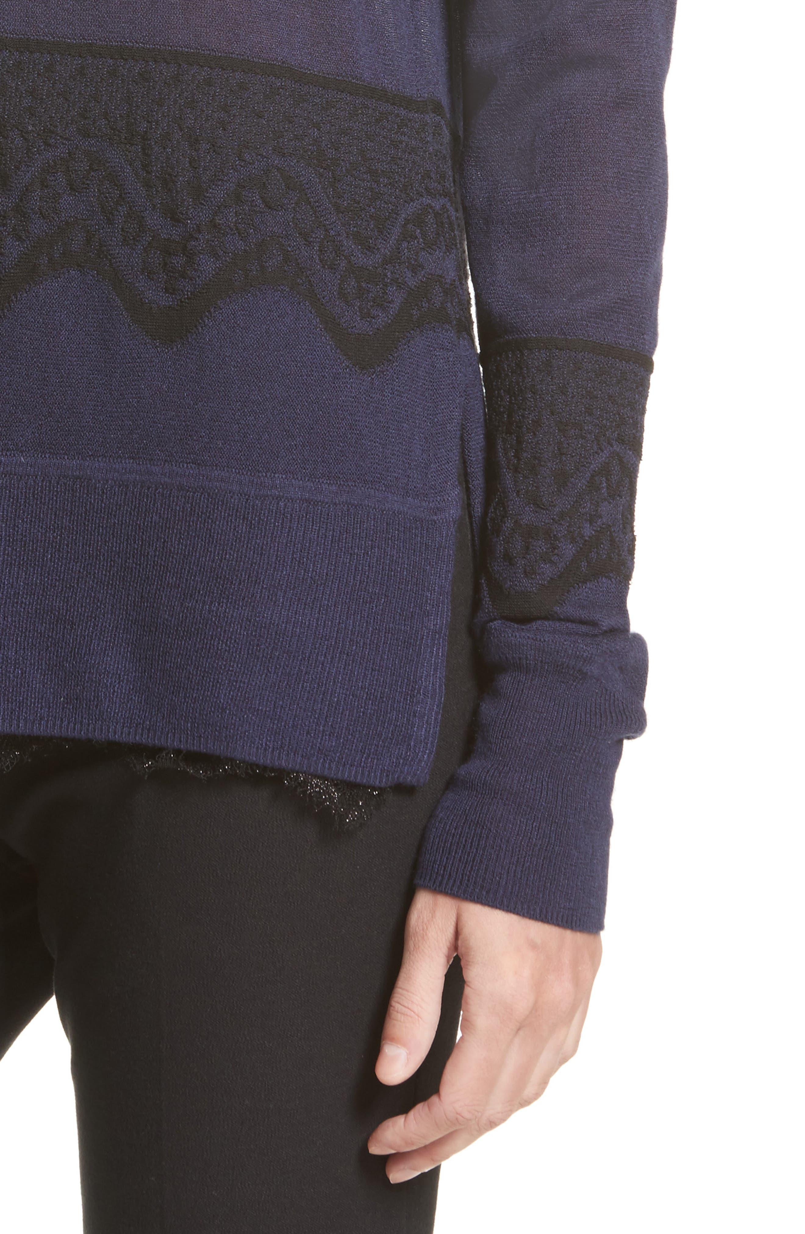 Alternate Image 5  - Derek Lam 10 Crosby Lace Hem Silk & Cashmere Pullover