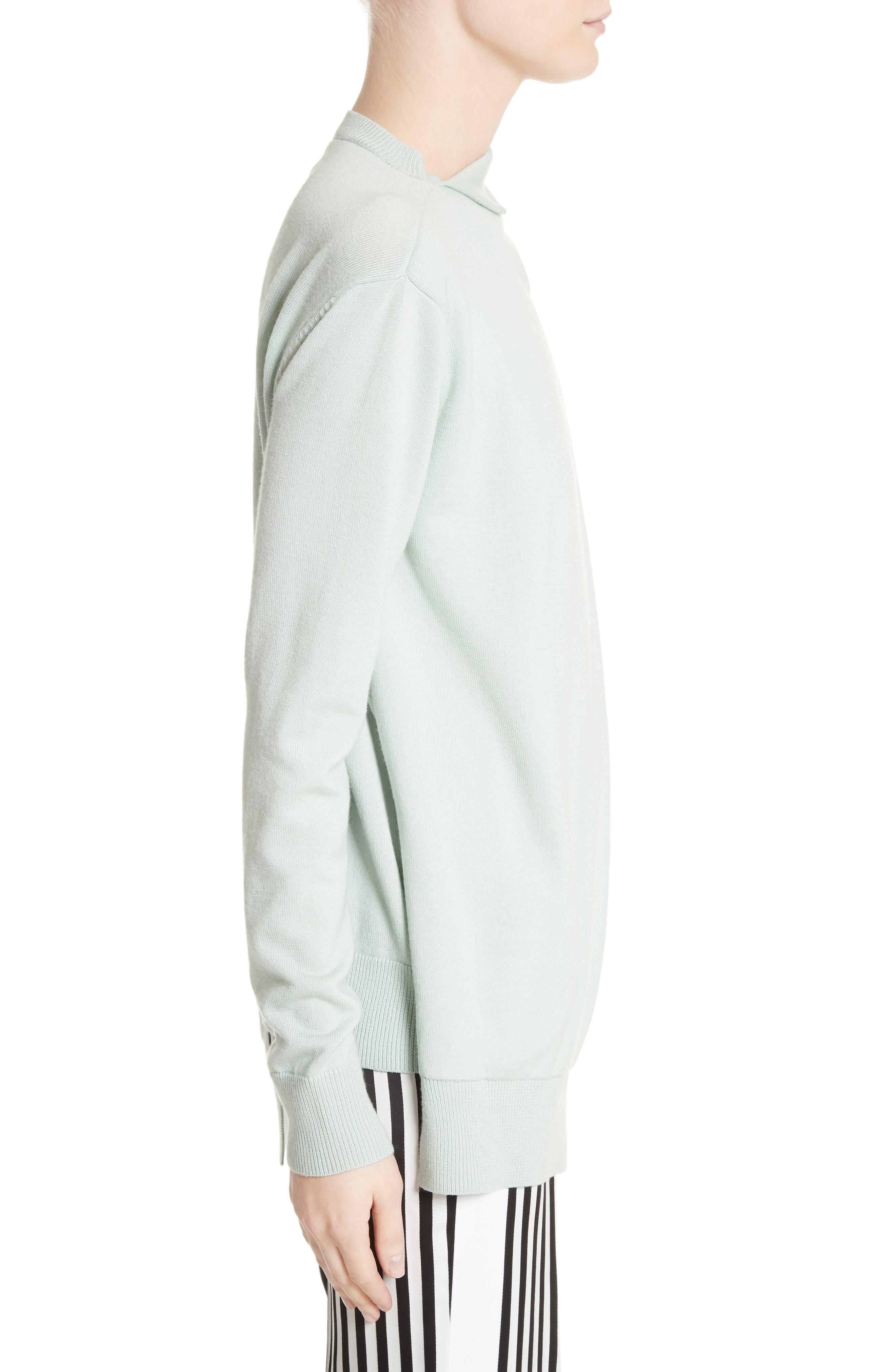 Alternate Image 3  - Victoria, Victoria Beckham Wrap Neck Merino Wool Sweater
