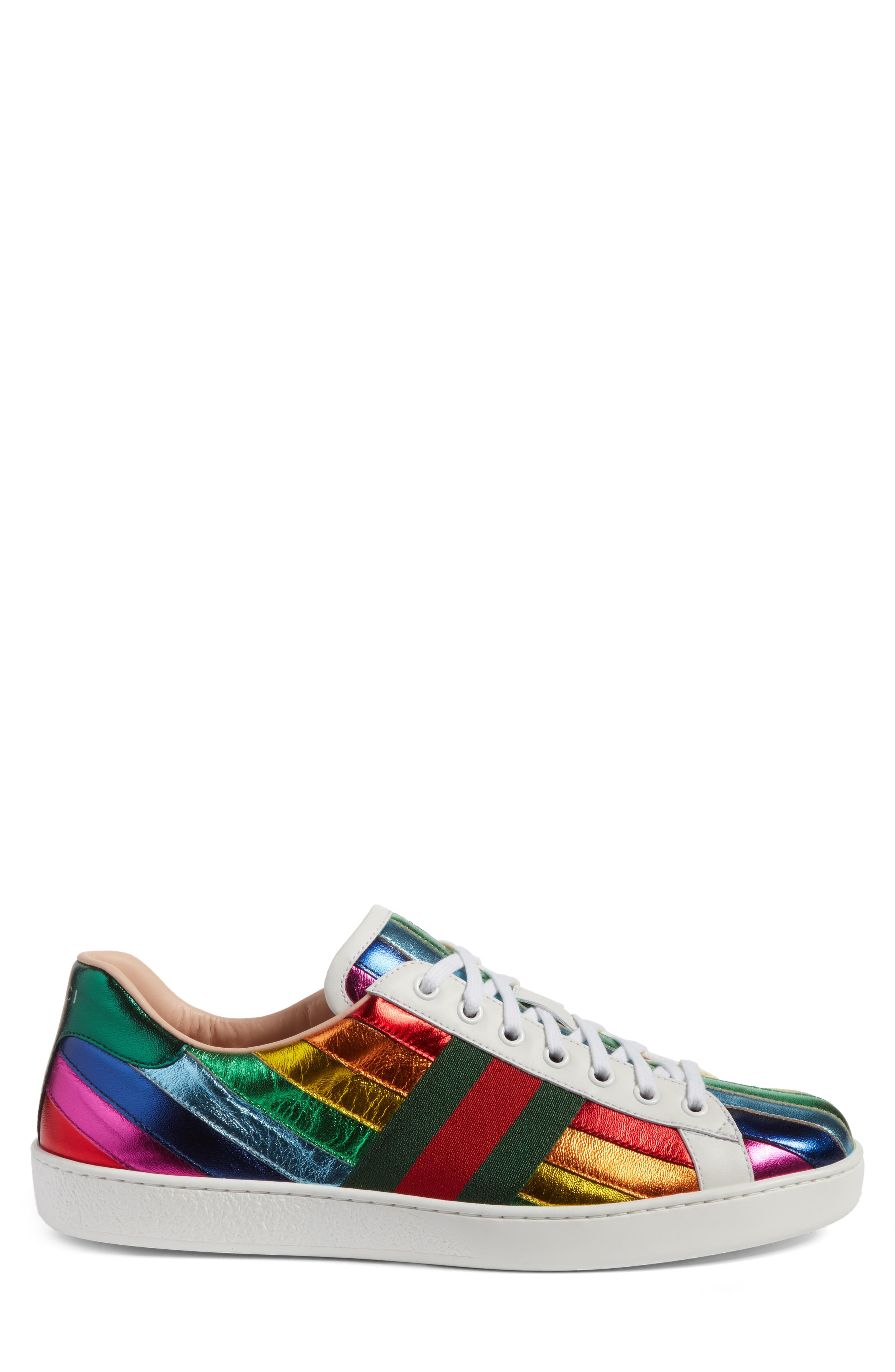Alternate Image 3  - Gucci New Ace Rainbow Sneaker (Men)
