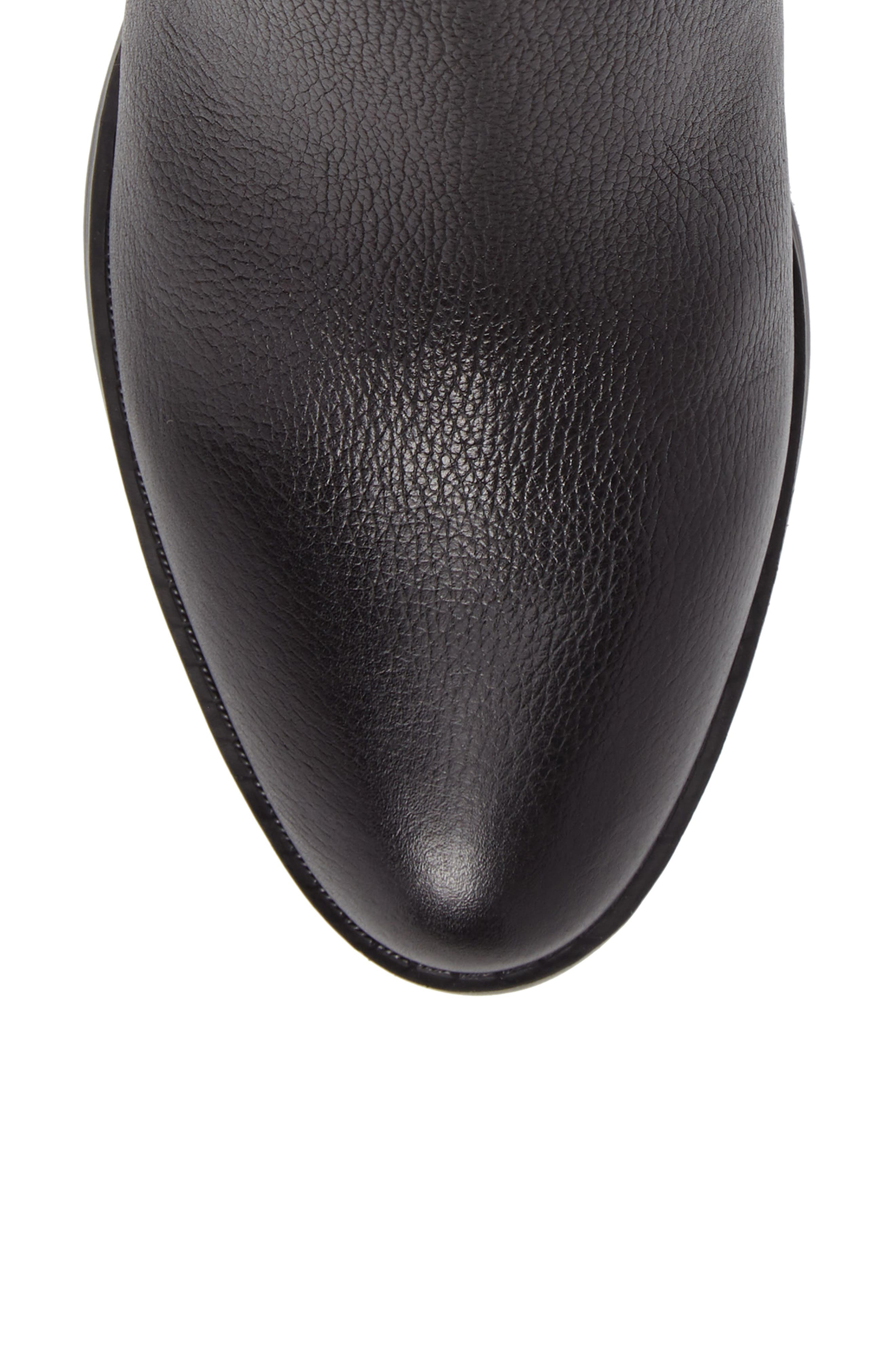 Wanya Buckle Bootie,                             Alternate thumbnail 5, color,                             Black Leather