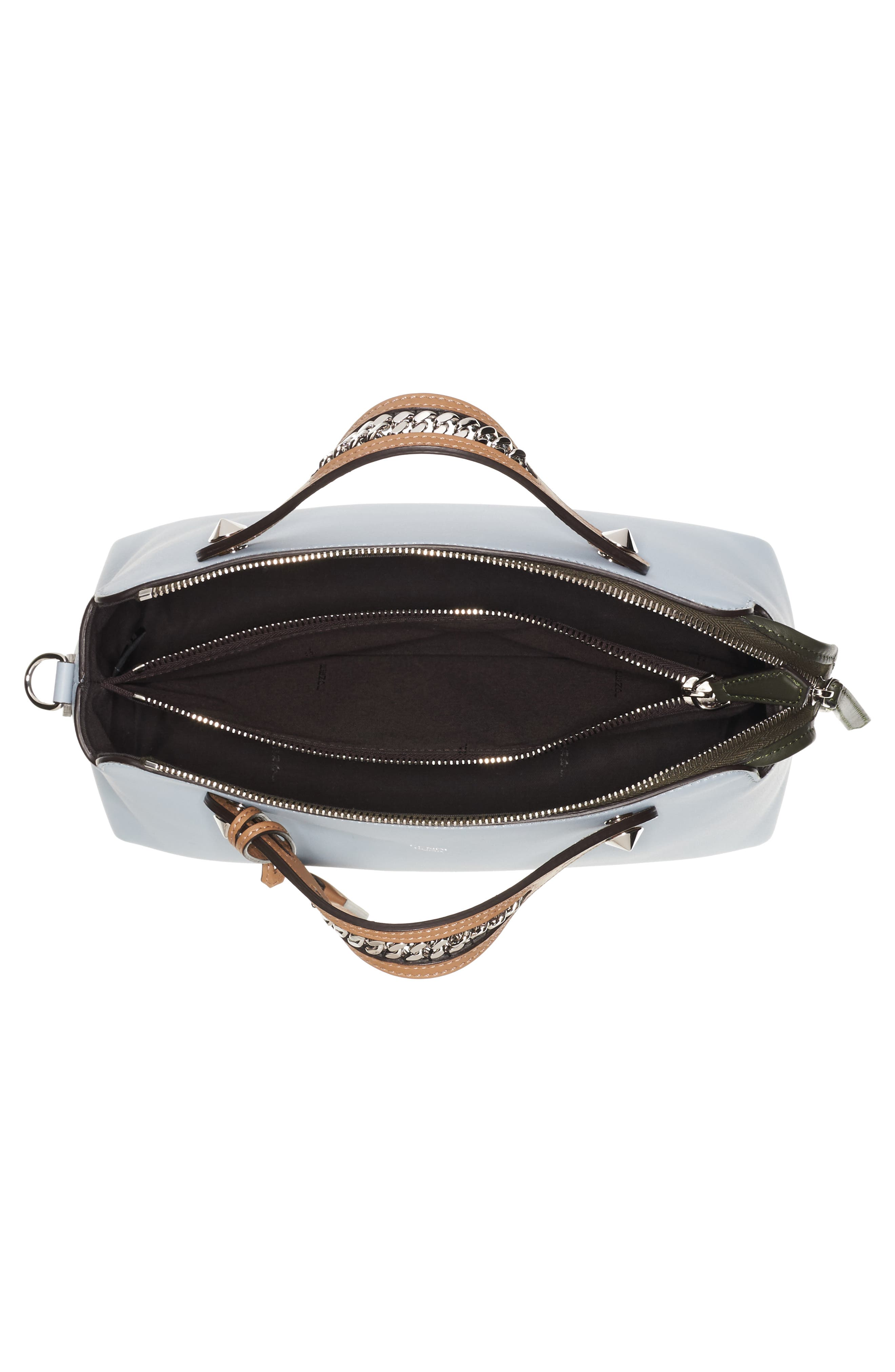 Small By the Way Leather Shoulder Bag,                             Alternate thumbnail 3, color,                             Blue Powder