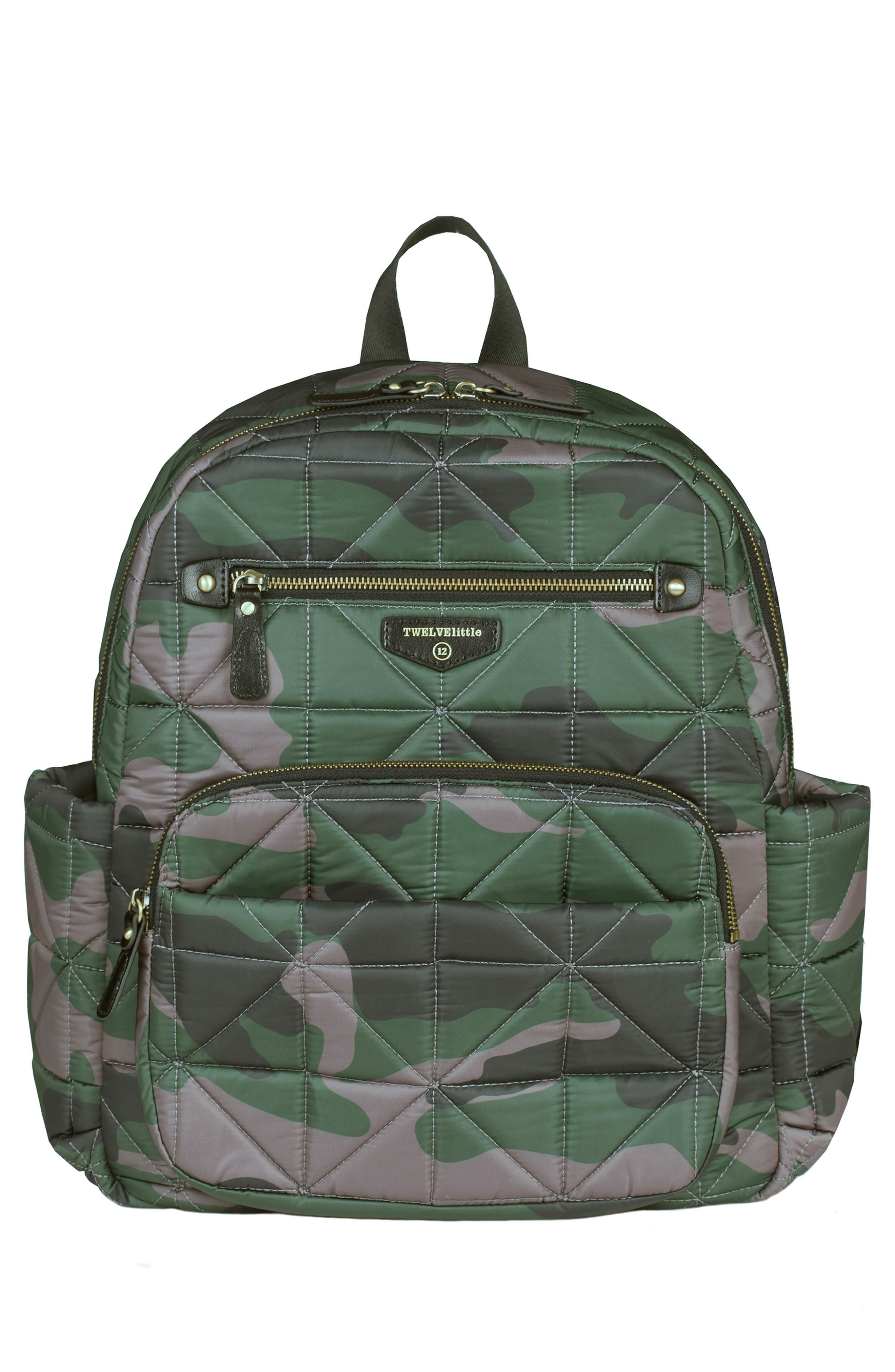 Main Image - TWELVElittle Companion Quilted Nylon Diaper Backpack