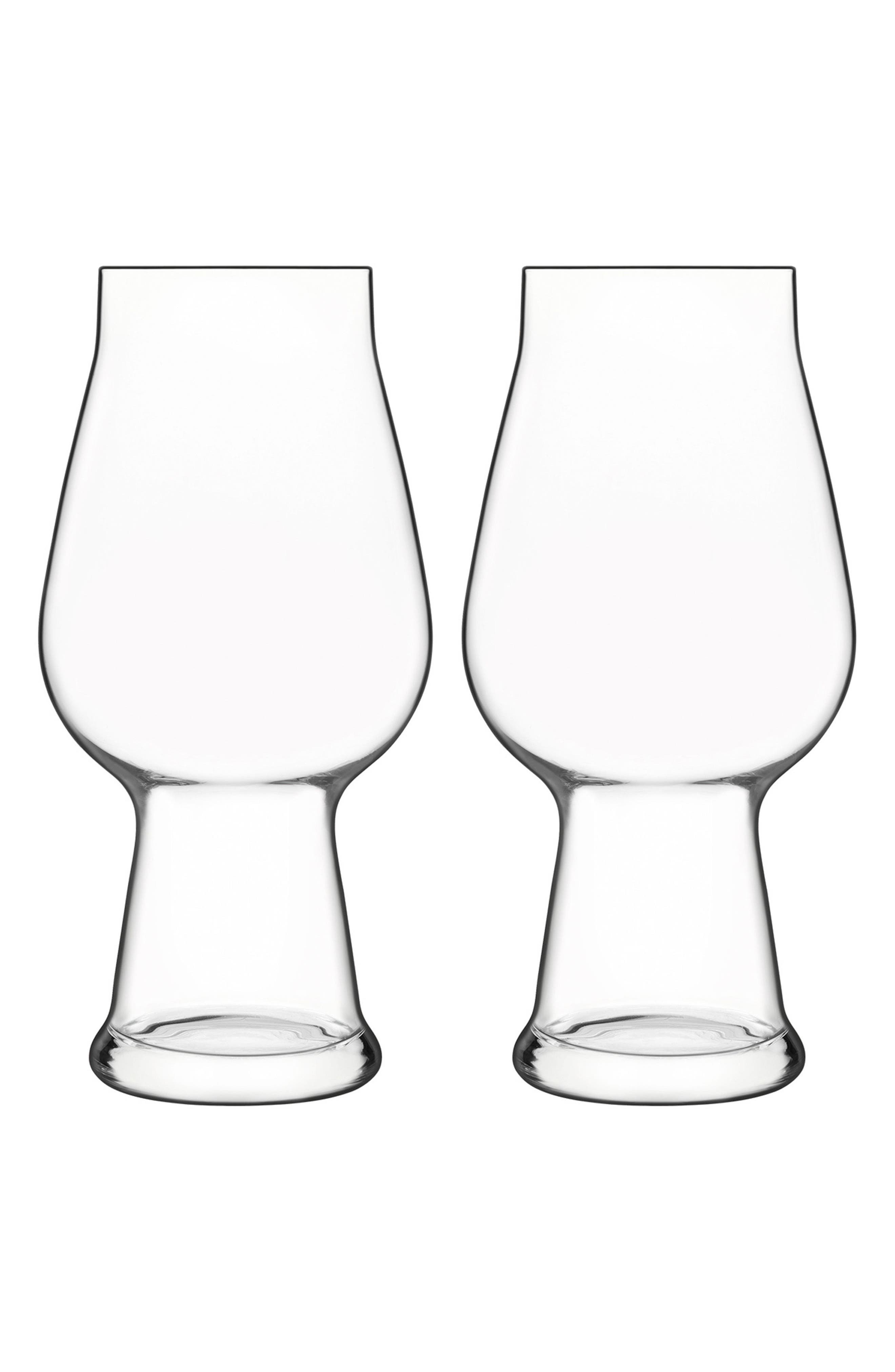 Birrateque Set of 2 IPA Glasses,                         Main,                         color, Clear