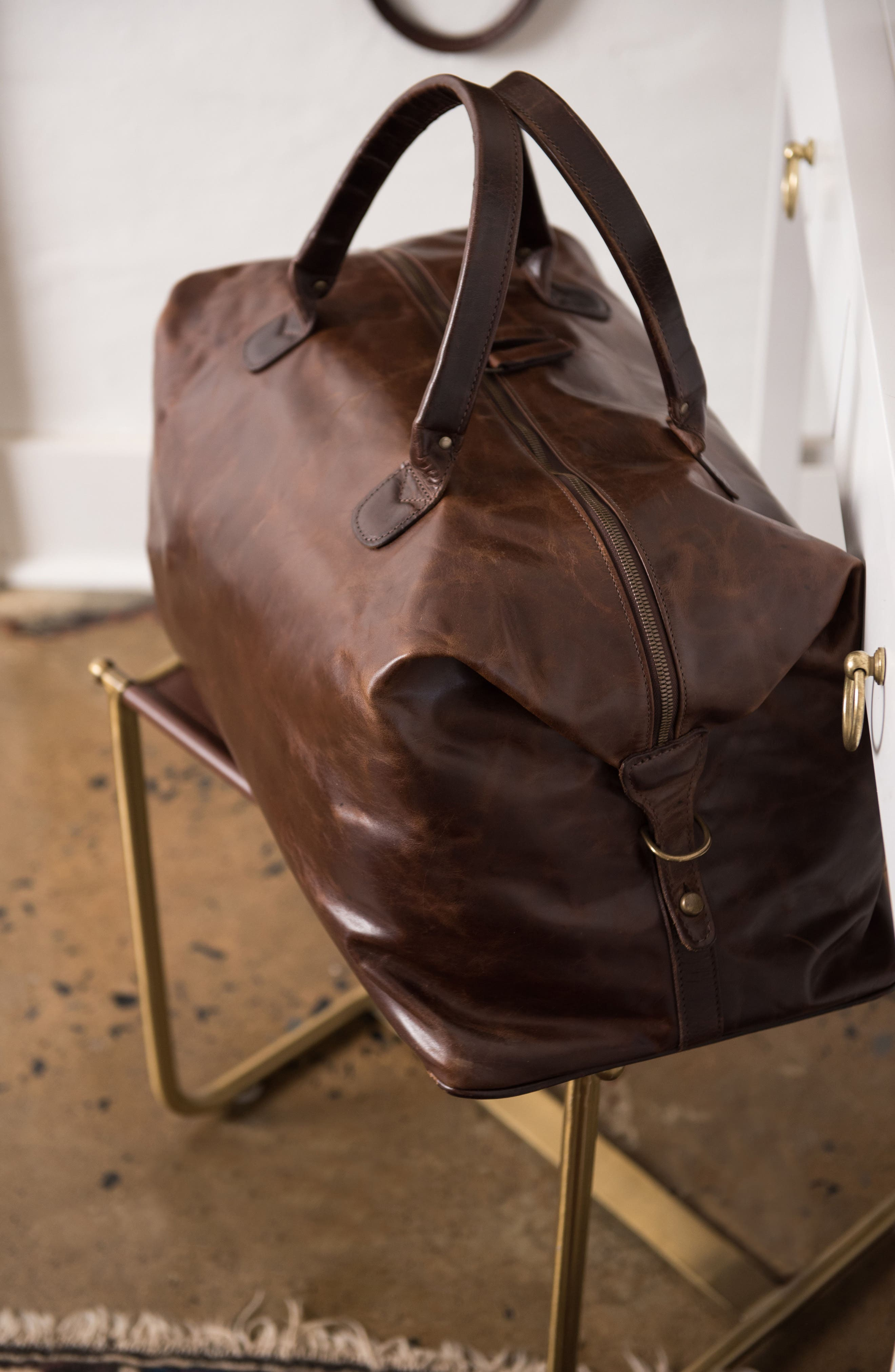 Alternate Image 6  - Moore & Giles Benedict Leather Duffel Bag