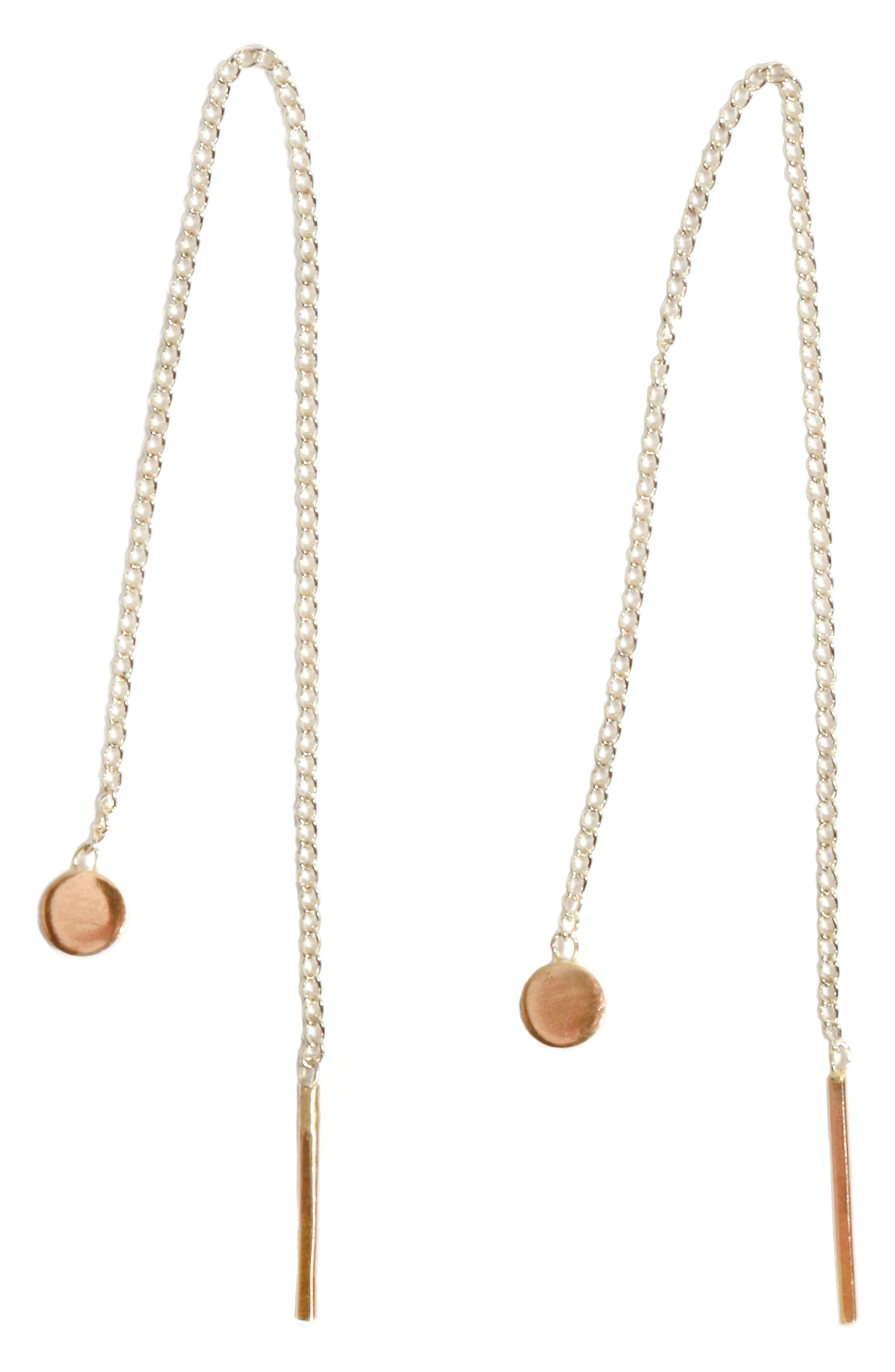 Melissa Joy Manning Chain Threader Earrings