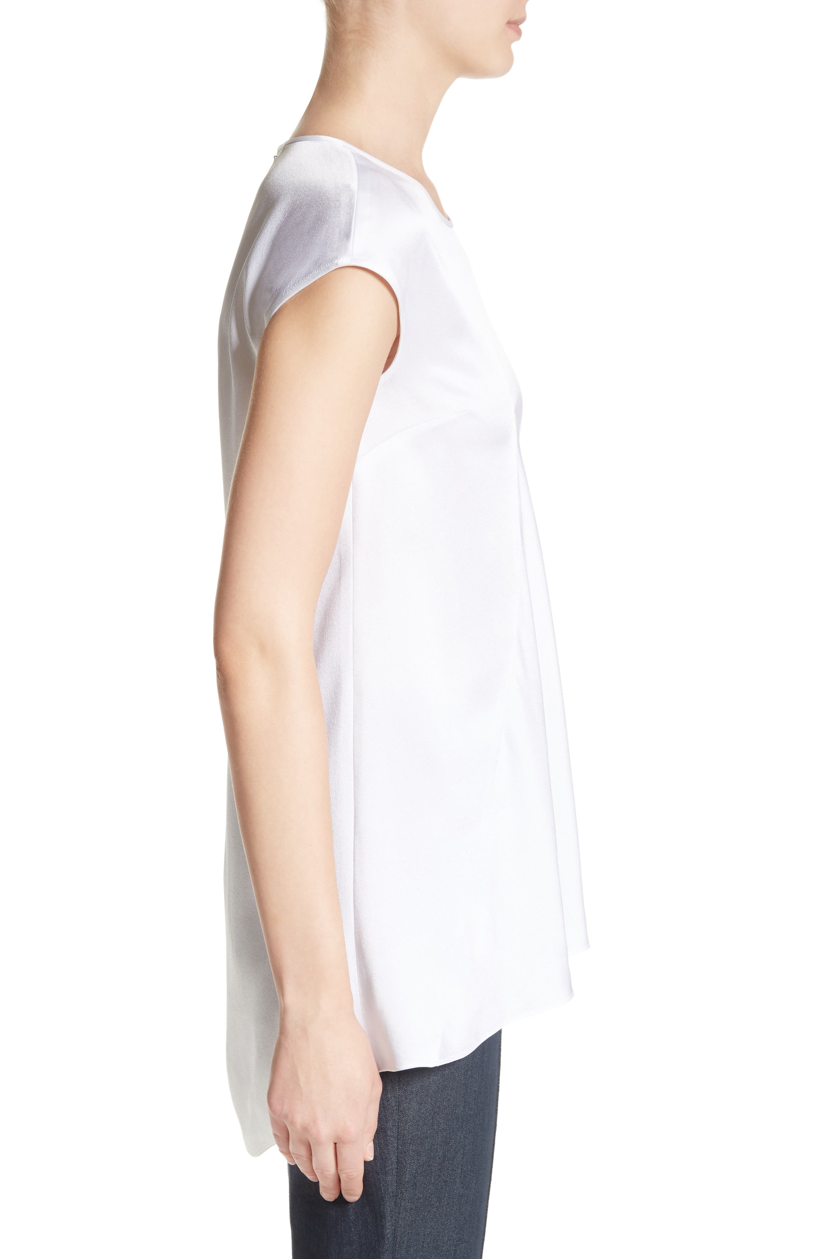 Alternate Image 3  - St. John Collection Satin Back Crepe Top