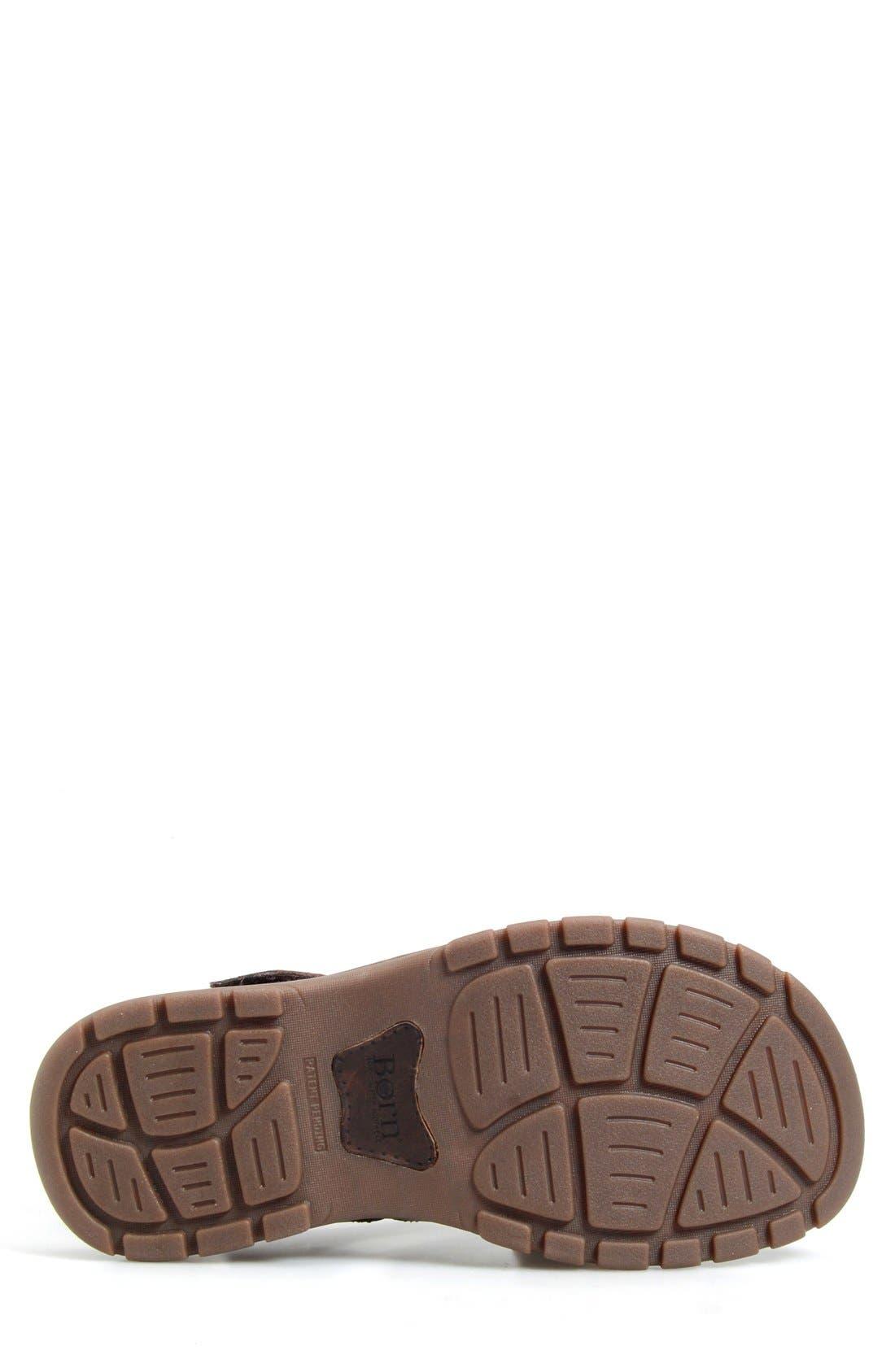 'Osmond' Leather Sandal,                             Alternate thumbnail 4, color,                             Mink