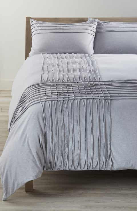 Nordstrom At Home Jersey Grid Duvet Cover