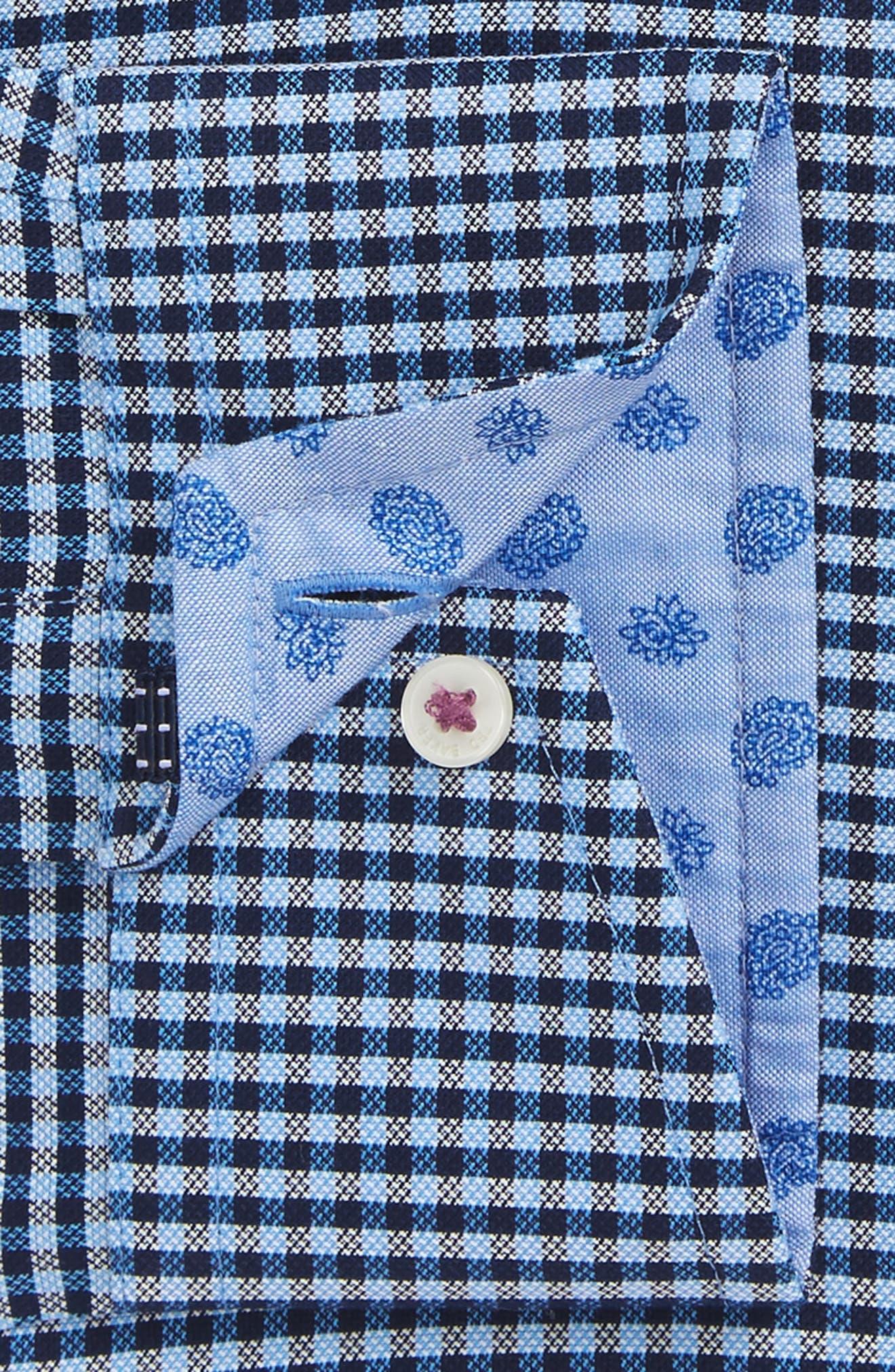 Endurance Sterling Trim Fit Dress Shirt,                             Alternate thumbnail 4, color,                             Blue