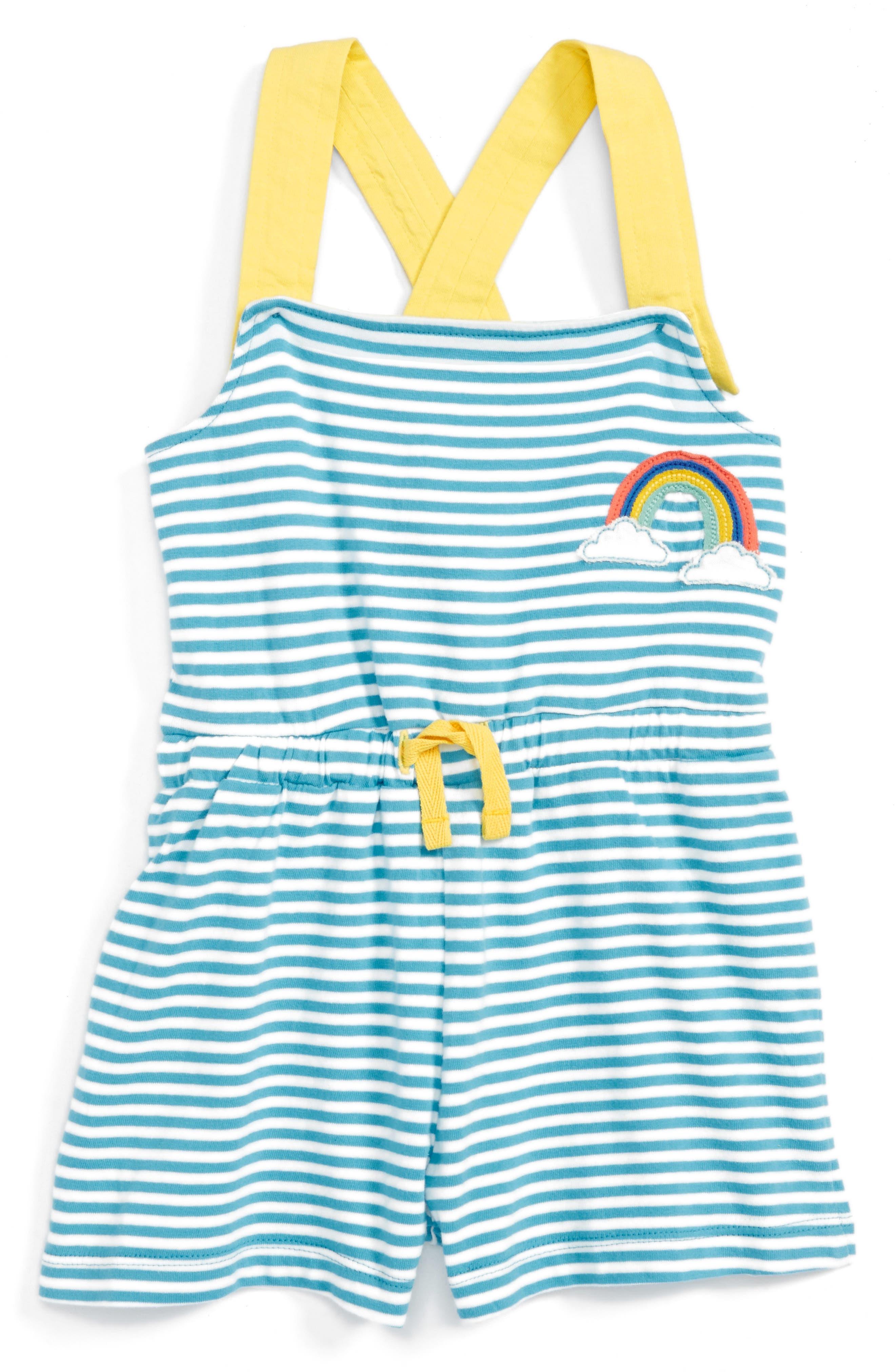 Mini Boden Appliqué Romper (Toddler Girls, Little Girls & Big Girls)