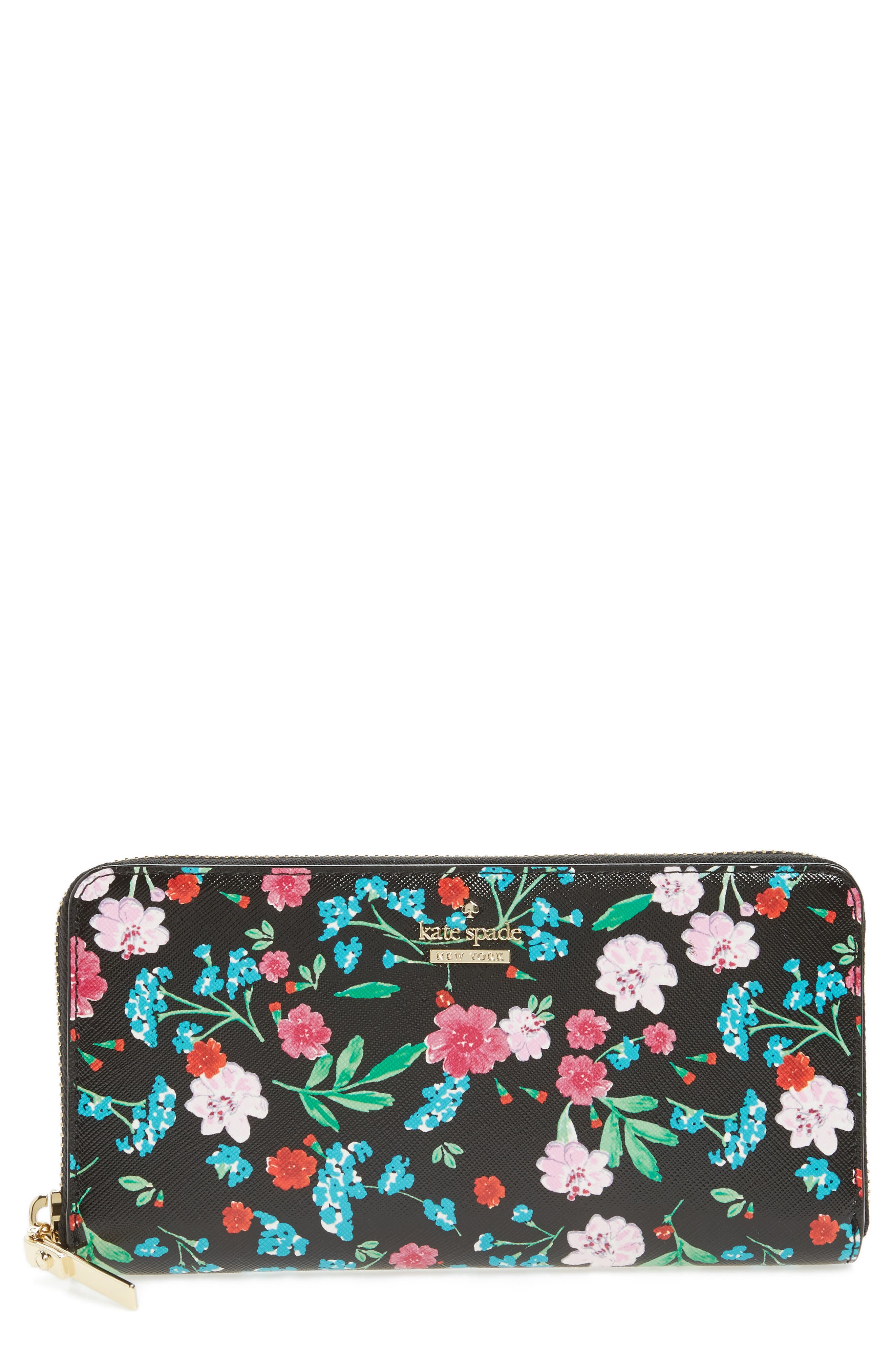 Main Image - kate spade new york cameron street jardin lacey leather wallet