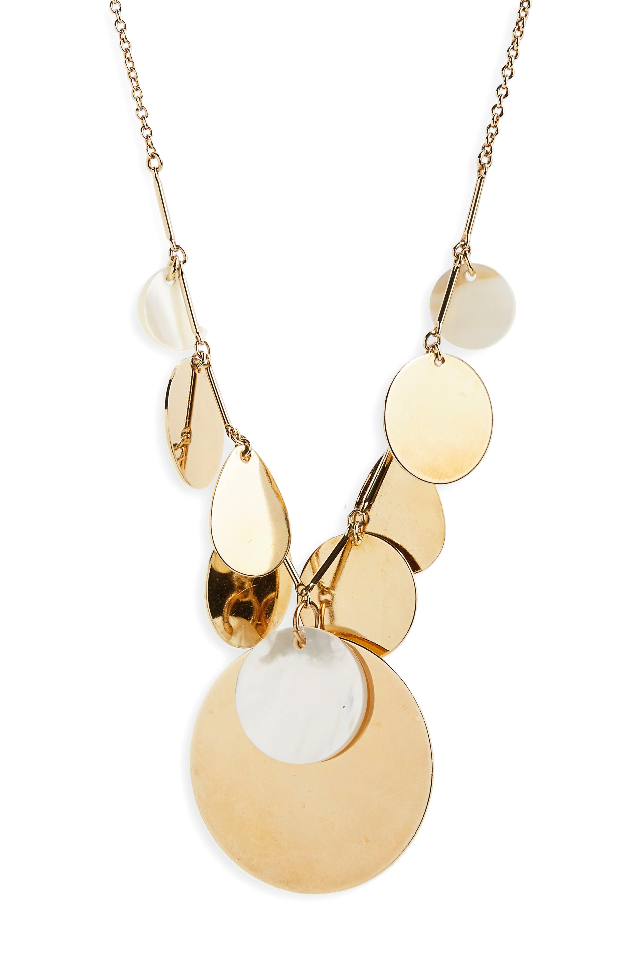 The Rosa Terri Collar Necklace,                         Main,                         color, Mother Of Pearl / Gold