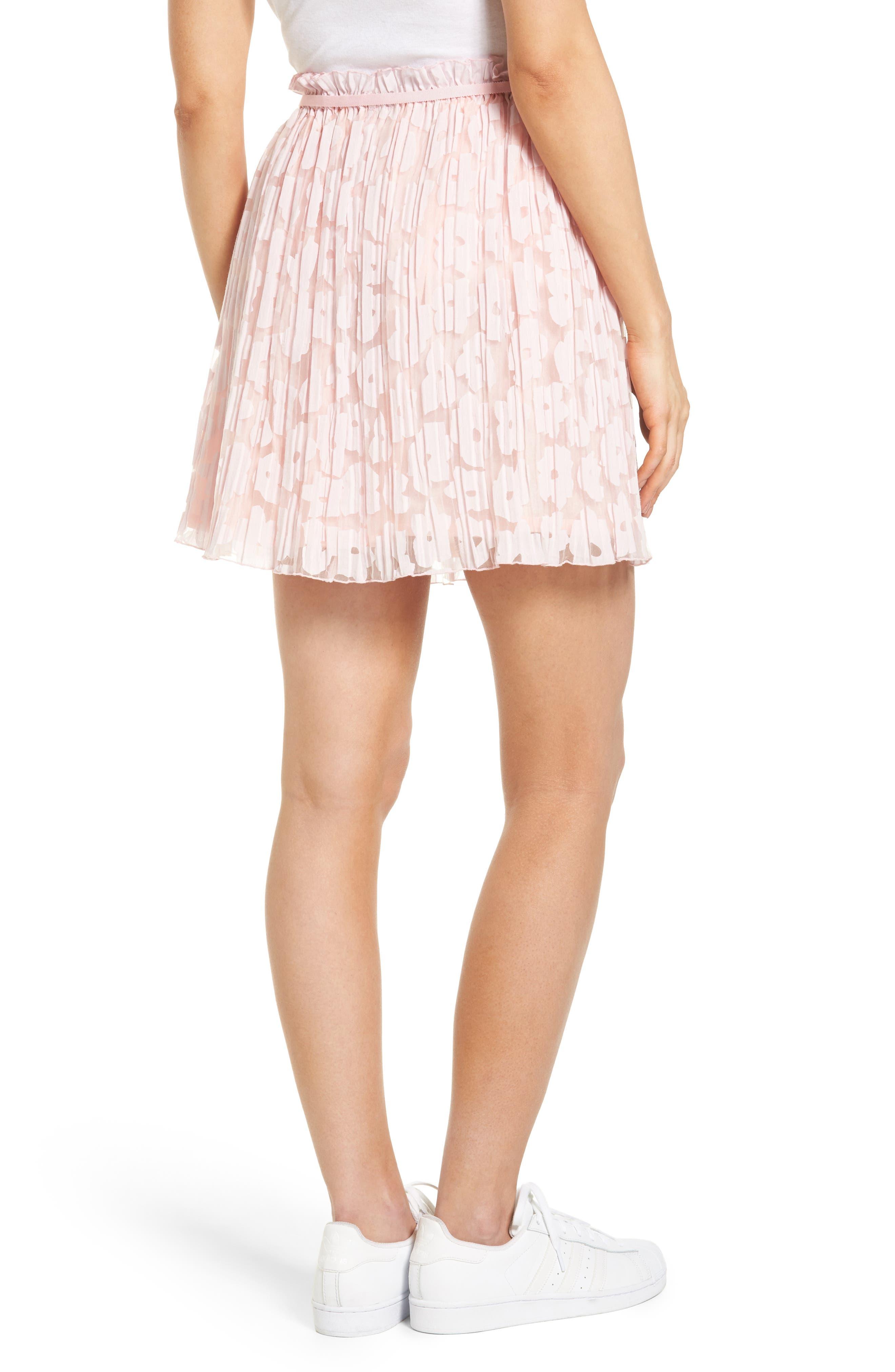Karlie Burnout Skirt,                             Alternate thumbnail 2, color,                             Rose Pale