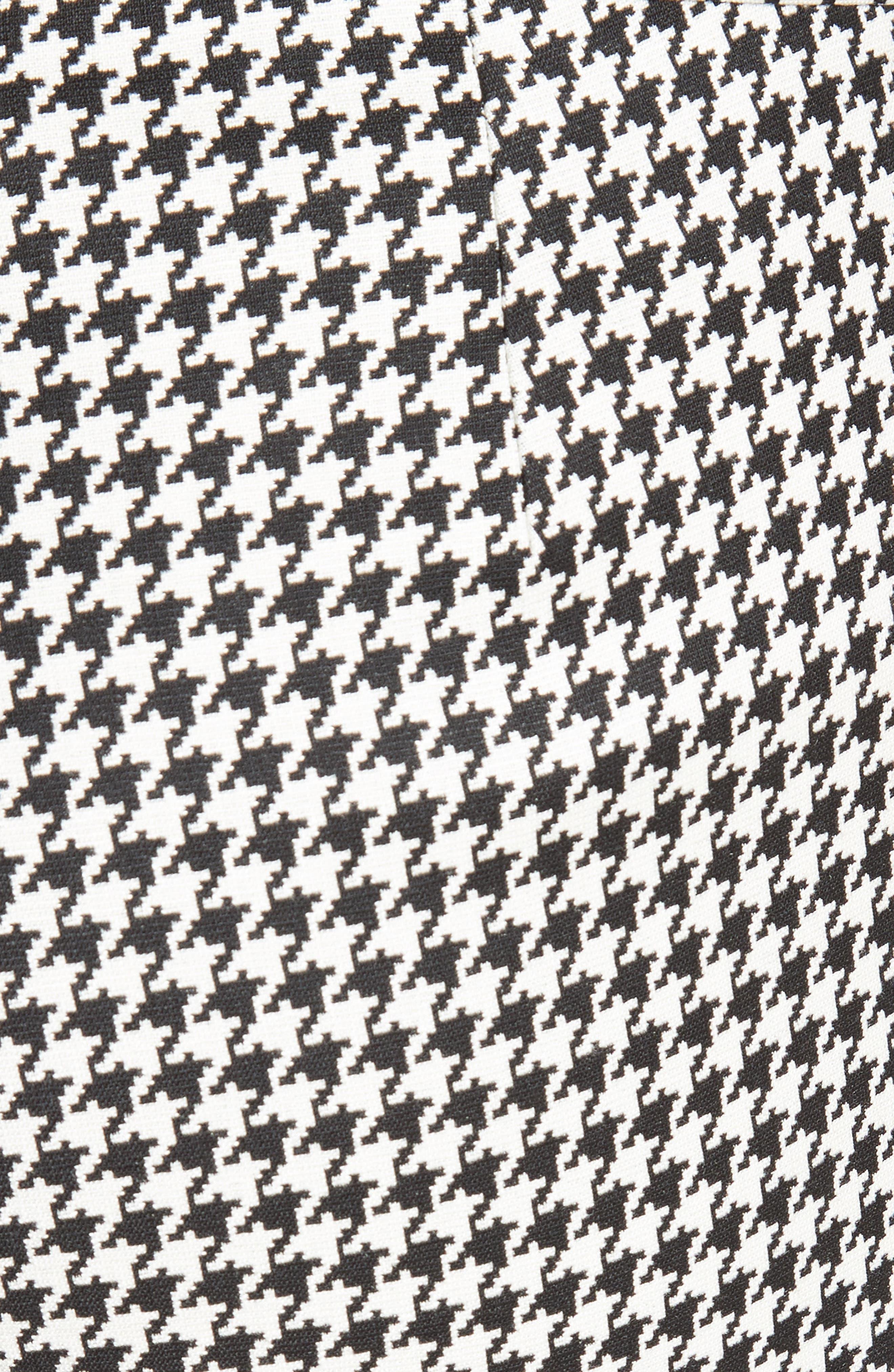 Astrale Houndstooth Wool Blend Pants,                             Alternate thumbnail 3, color,                             Black