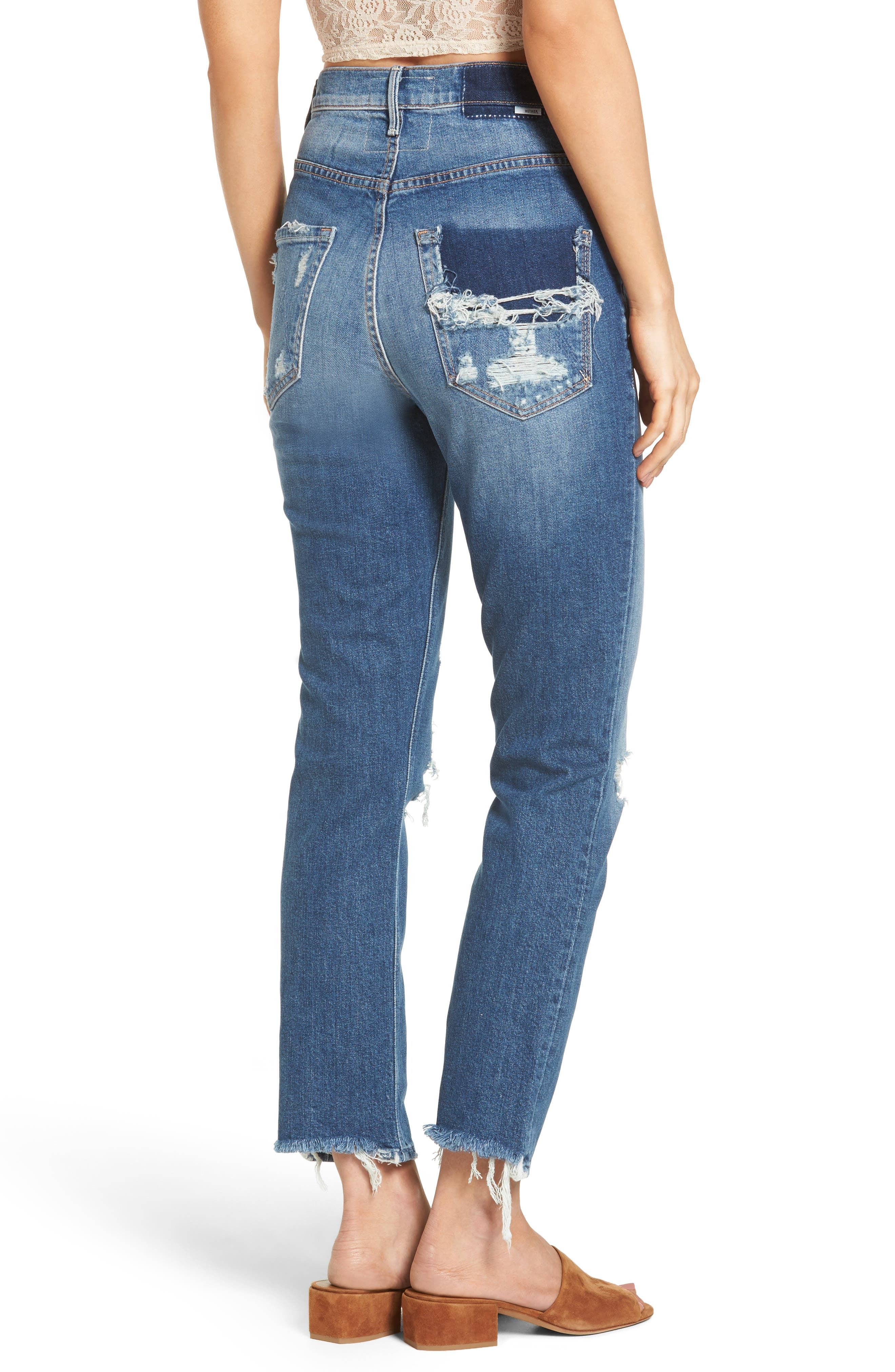 Dazzler Shift Step Waistband Jeans,                             Alternate thumbnail 2, color,                             Your Treat Or Mine