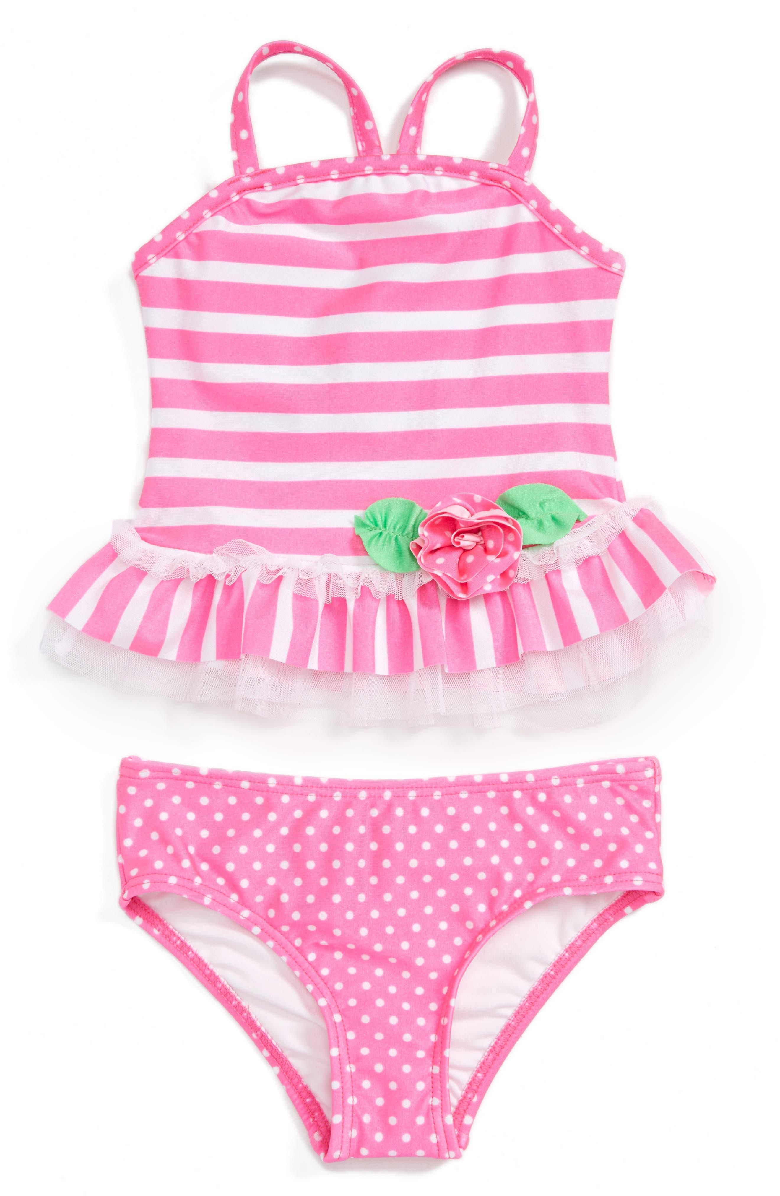 Love U Lots Two-Piece Tankini Swimsuit (Toddler Girls)
