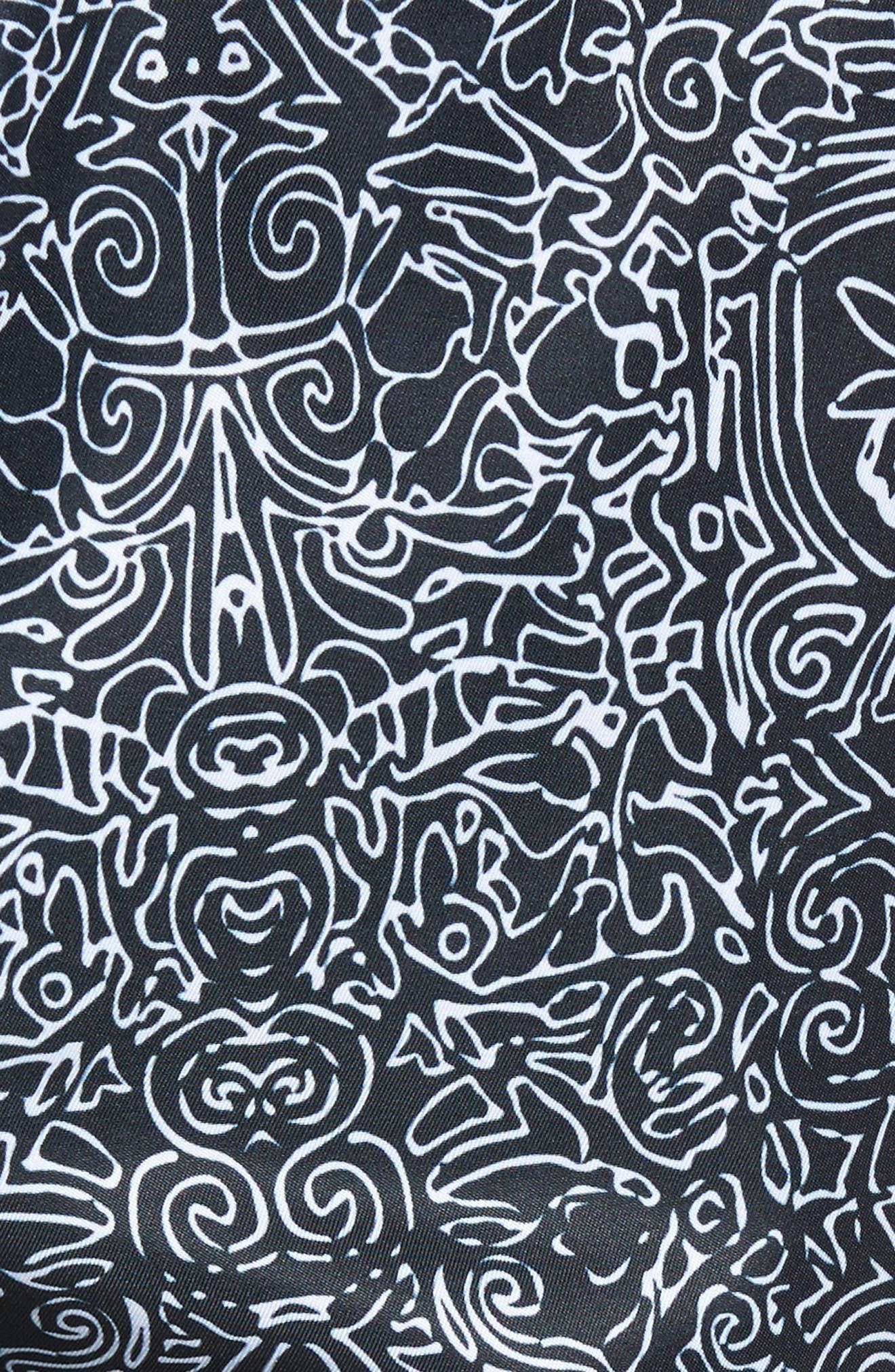 Swim Trunks,                             Alternate thumbnail 6, color,                             Navy Tribal Print