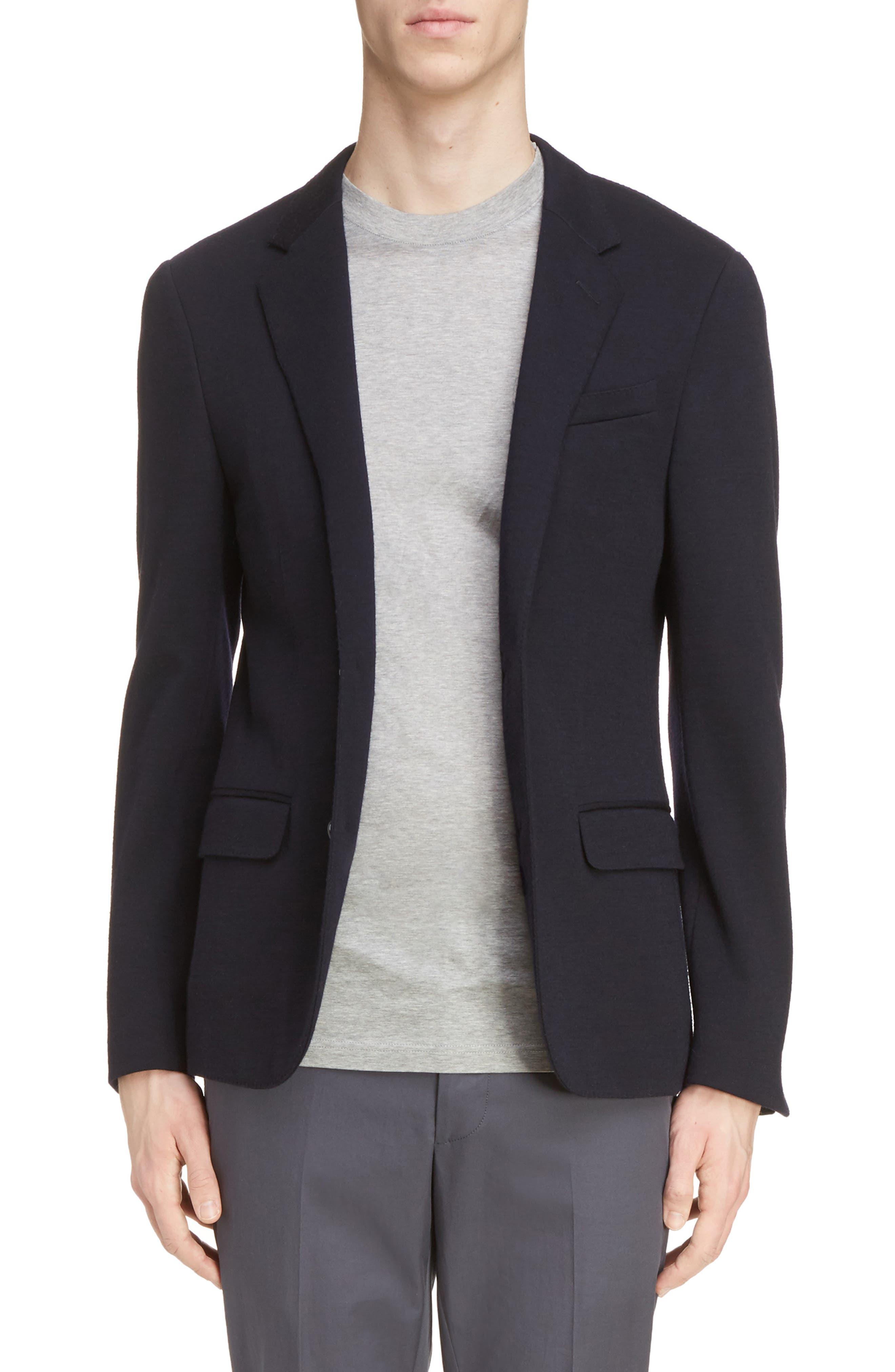 Lanvin Wool Blend Jersey Jacket