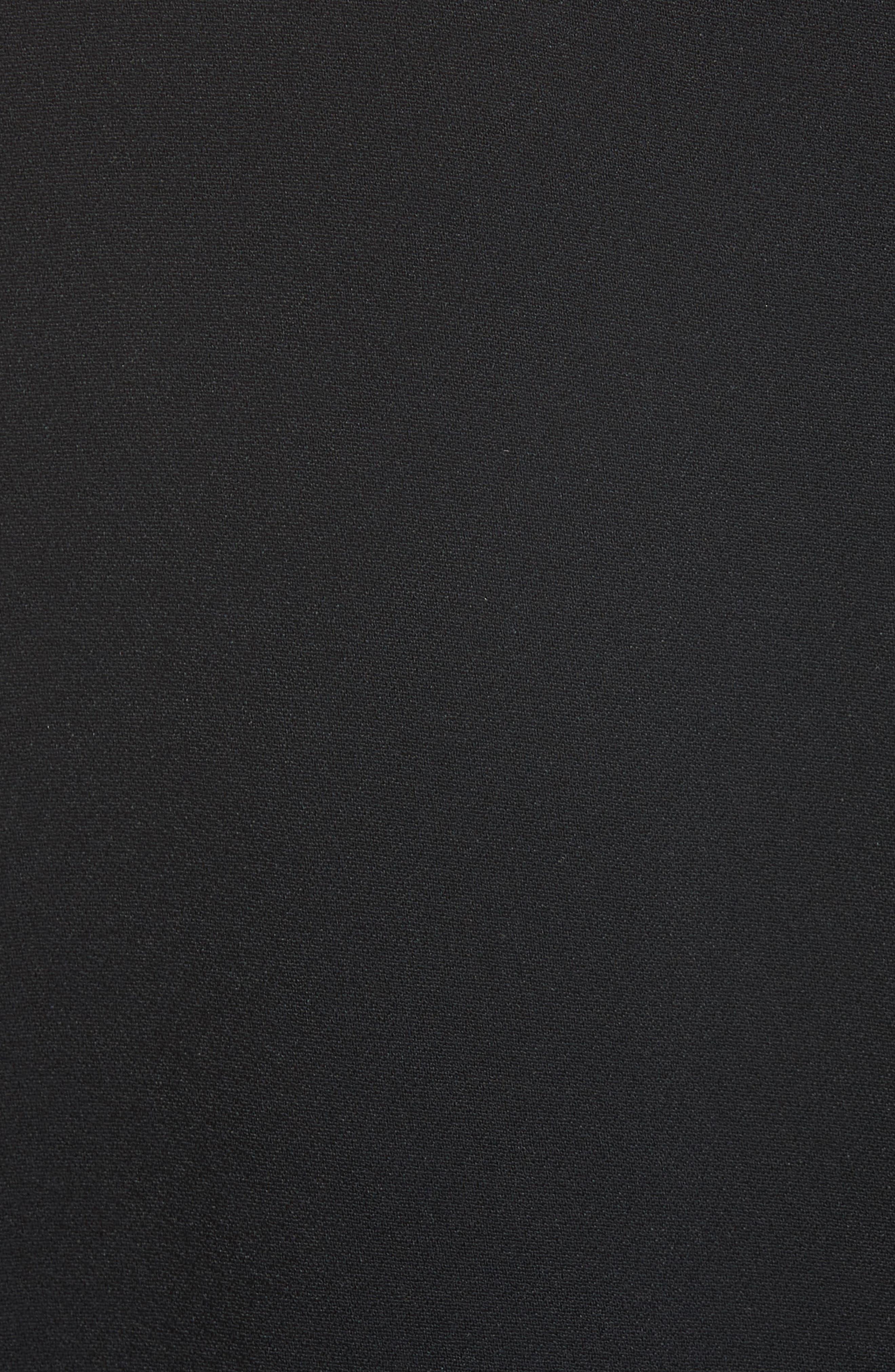 Stretch Cady Fringe Top,                             Alternate thumbnail 3, color,                             Black