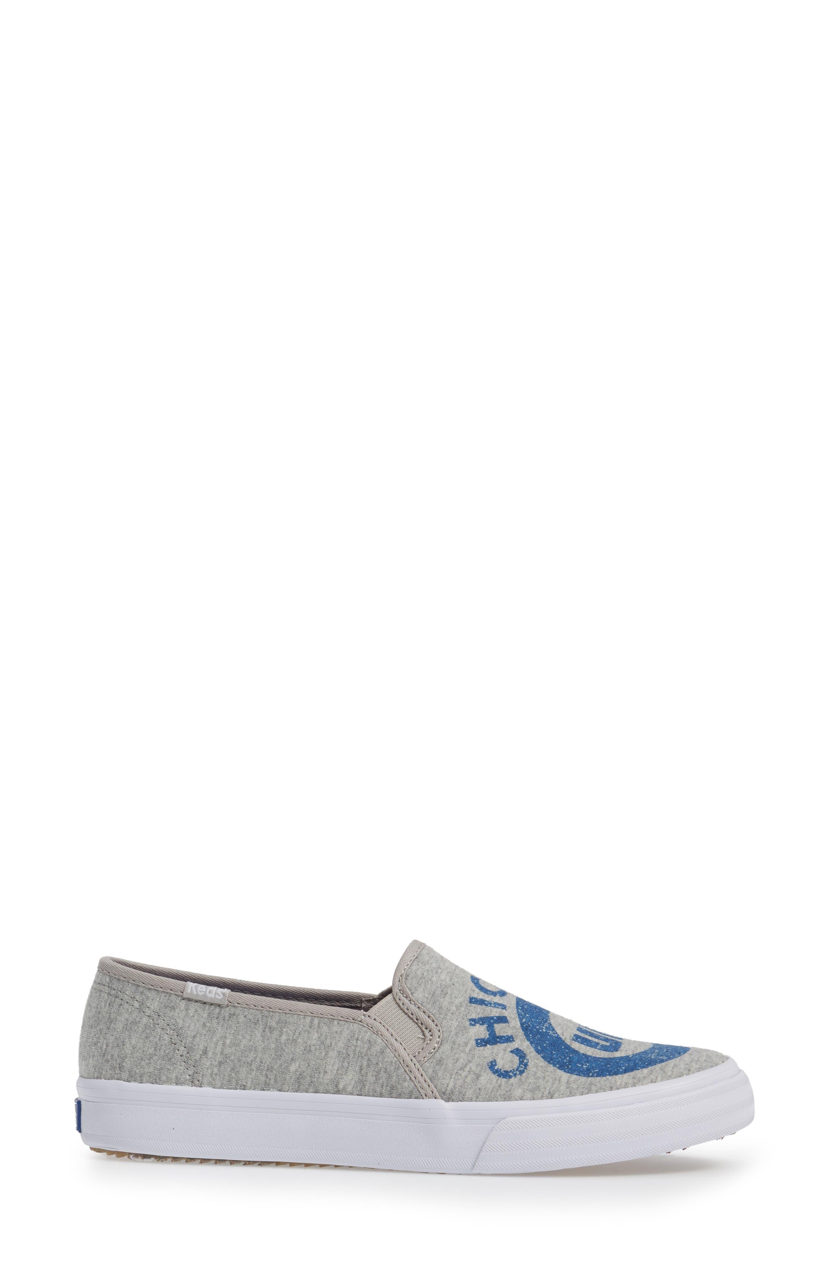 Double Decker Baseball Team Jersey Slip-On Sneaker,                             Alternate thumbnail 3, color,                             Light Grey