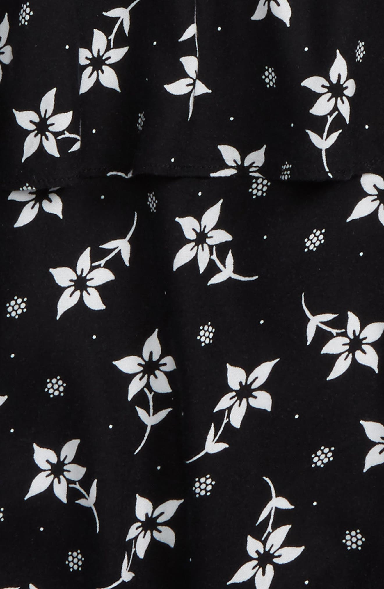Alternate Image 2  - Tucker + Tate Floral Print Tank & Tee (Big Girls)