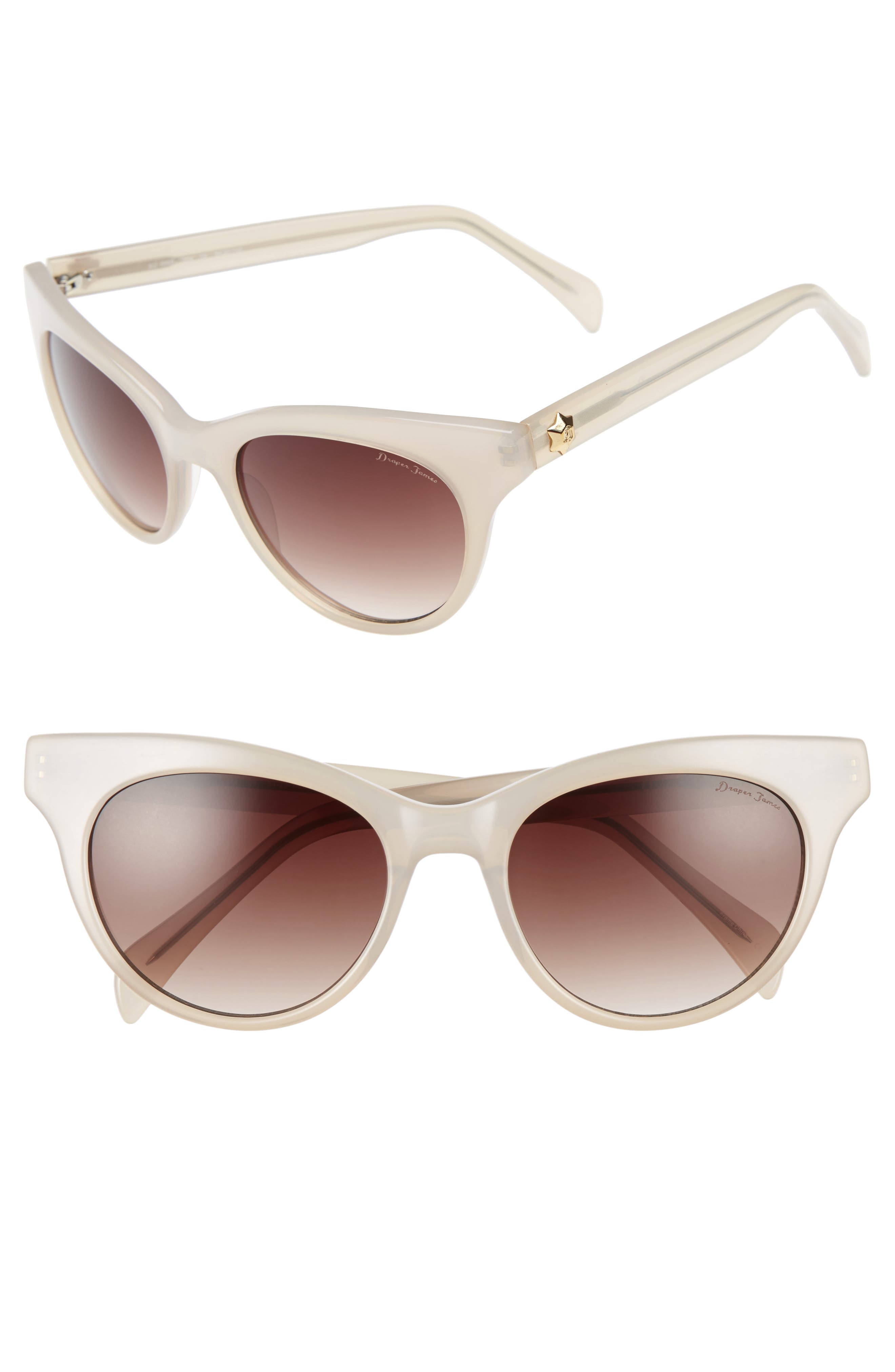 Alternate Image 1 Selected - Draper James 54mm Gradient Lens Cat Eye Sunglasses