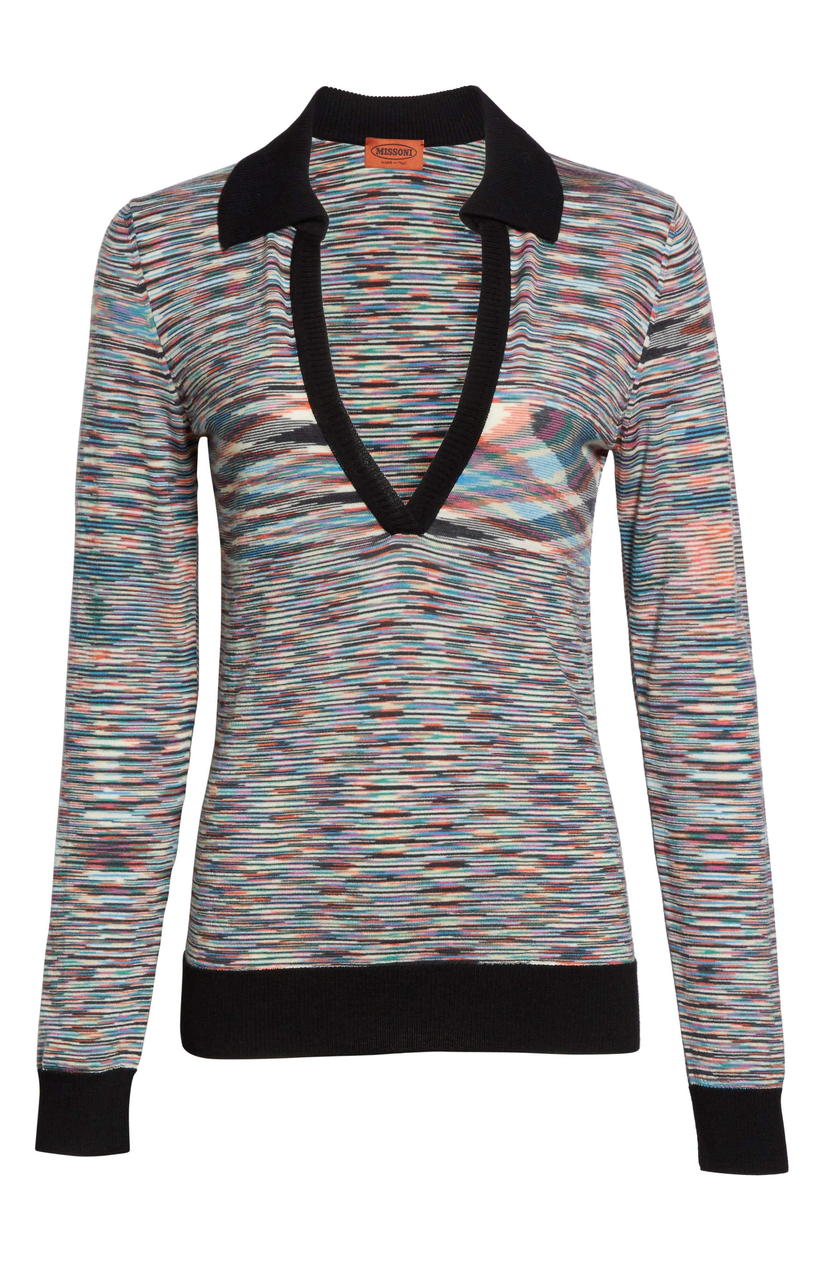 Alternate Image 4  - Missoni Space Dye Wool Blend Polo Sweater