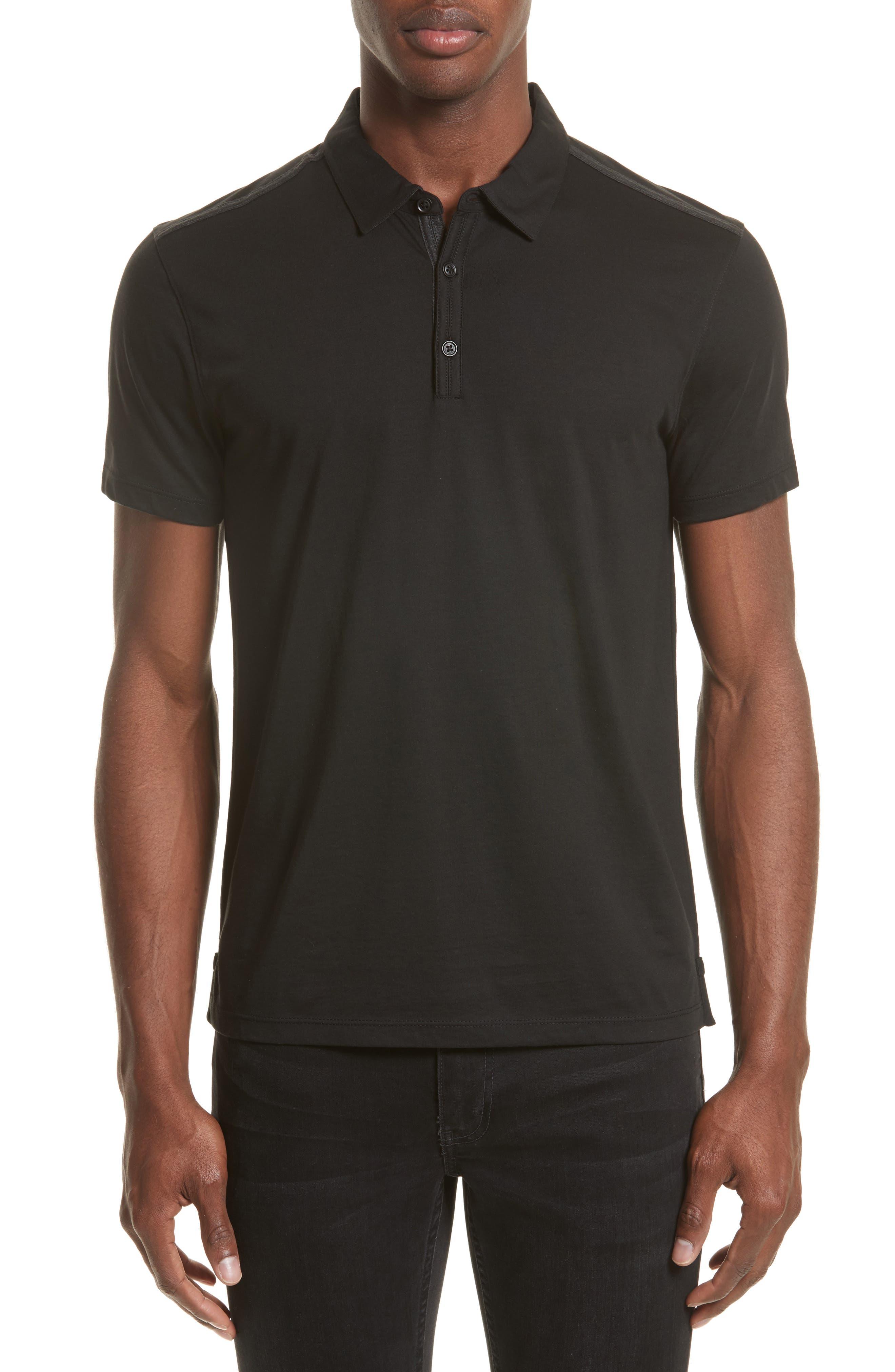 Pima Cotton Polo,                         Main,                         color, Black