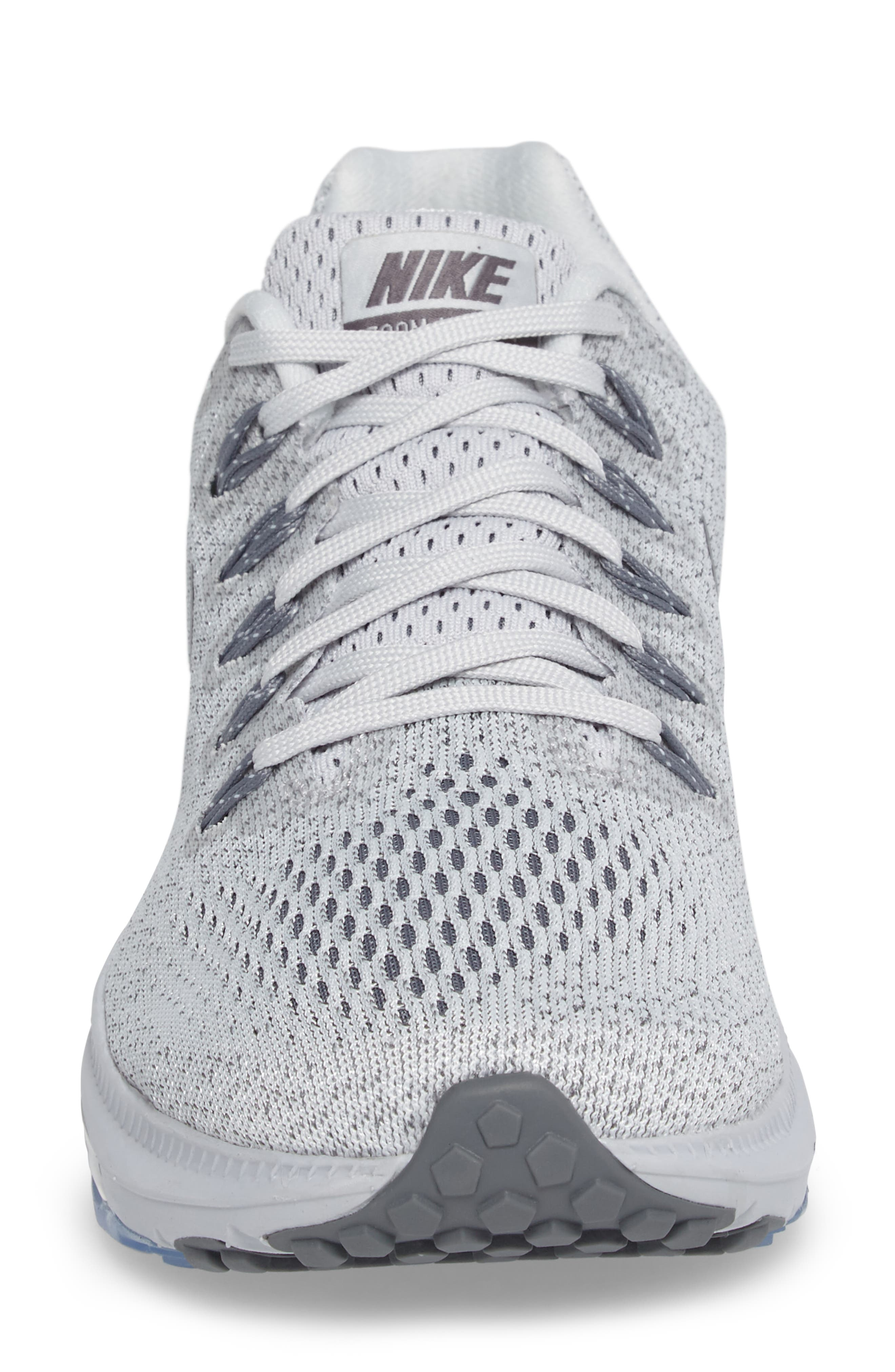 Air Zoom All Out Running Shoe,                             Alternate thumbnail 4, color,                             Platinum/ Cool Grey/ Wolf Grey
