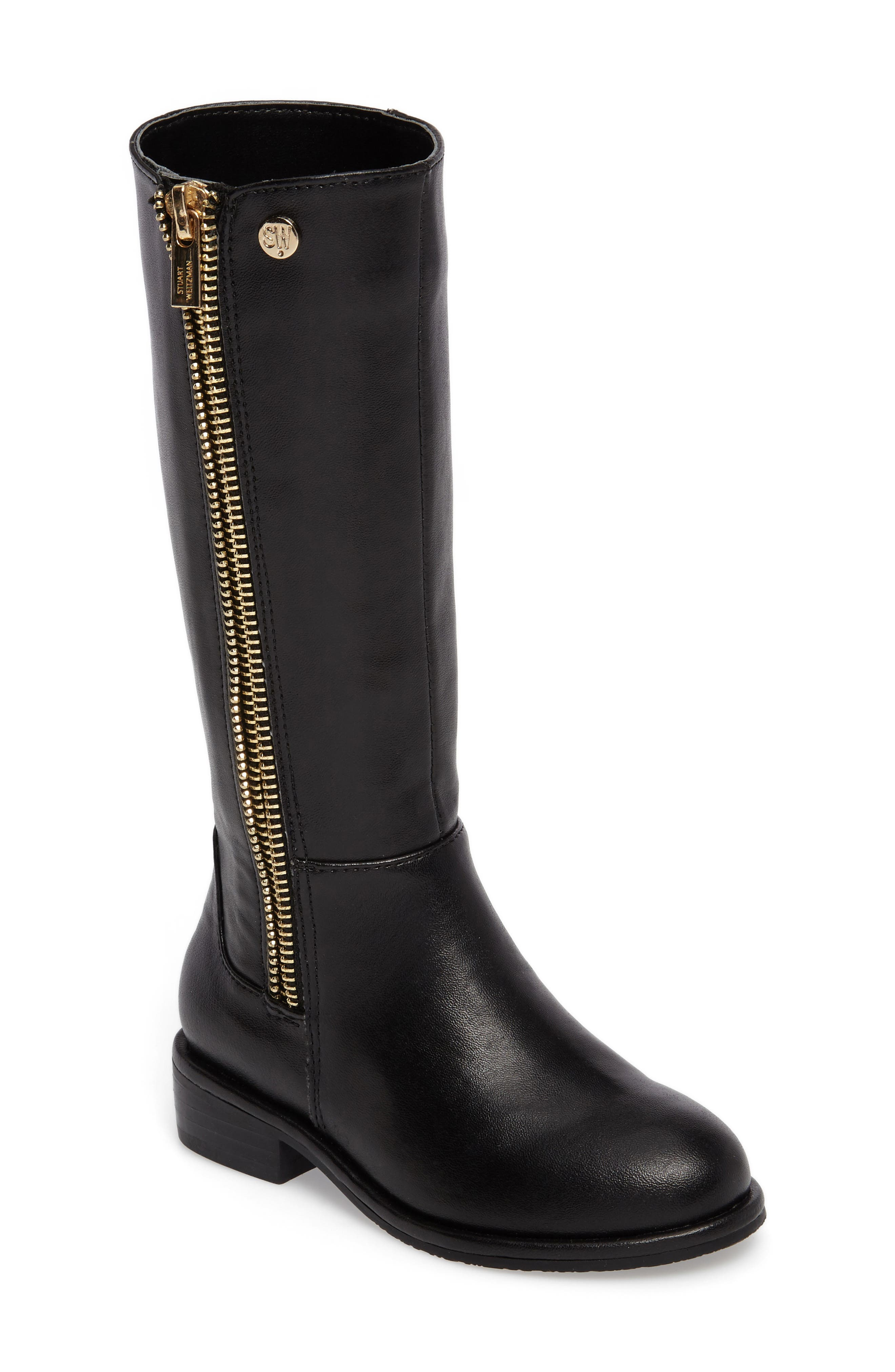 Lowland Riding Boot,                             Main thumbnail 1, color,                             Black Faux Leather