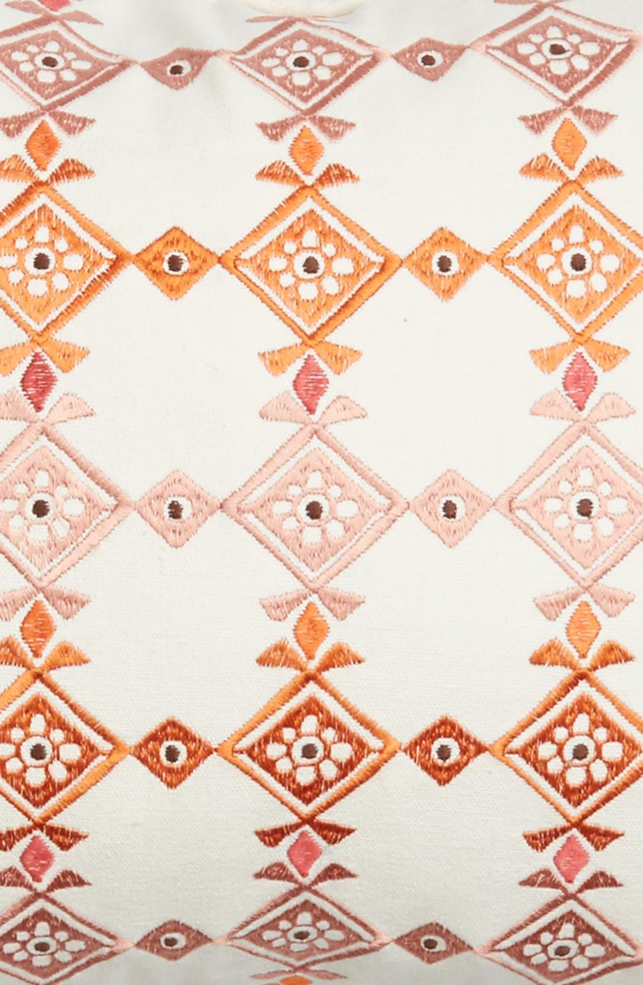 Piper Tassel Pillow,                             Alternate thumbnail 3, color,                             Red/ Multi